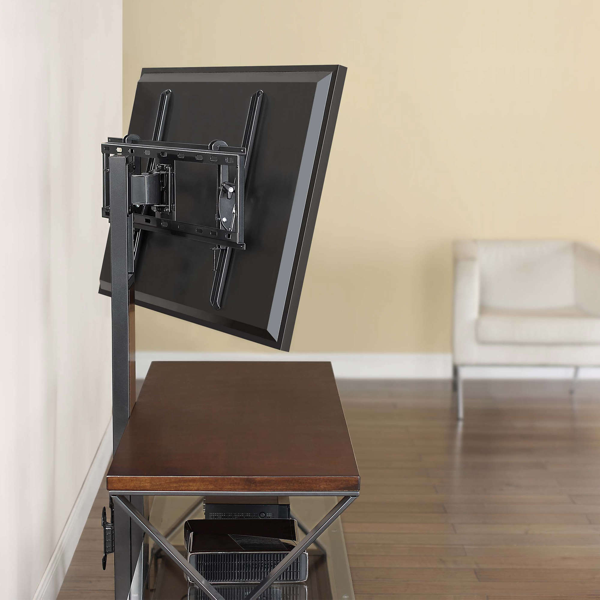 """Jaxon 3 In 1 Cognac Tv Stand For Tvs Up To 70"""" – Walmart For Recent Jaxon 71 Inch Tv Stands (View 4 of 20)"""