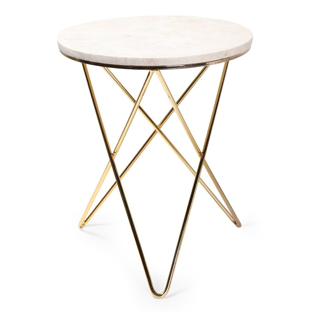 Jules Small Accent Table Intended For Famous Elke Glass Console Tables With Polished Aluminum Base (View 17 of 20)