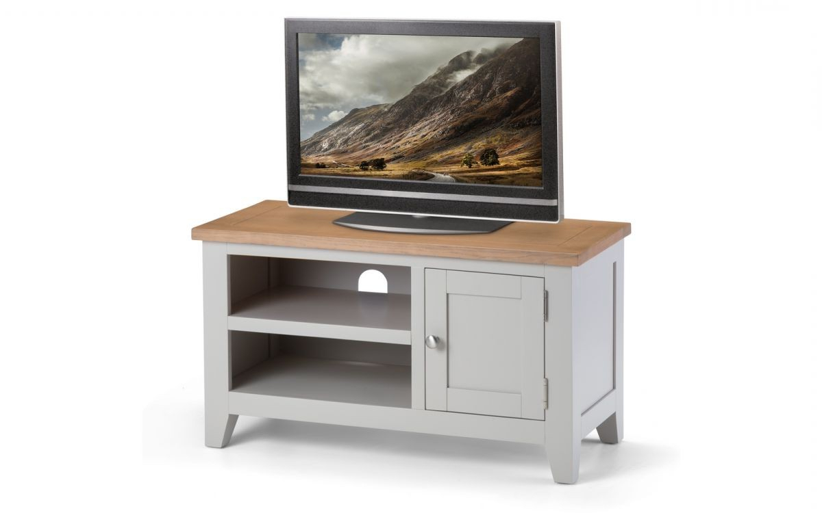 Julian Bowen Richmond Oak And Grey Tv Unit From The Bed Station Pertaining To 2018 100Cm Width Tv Units (View 9 of 20)