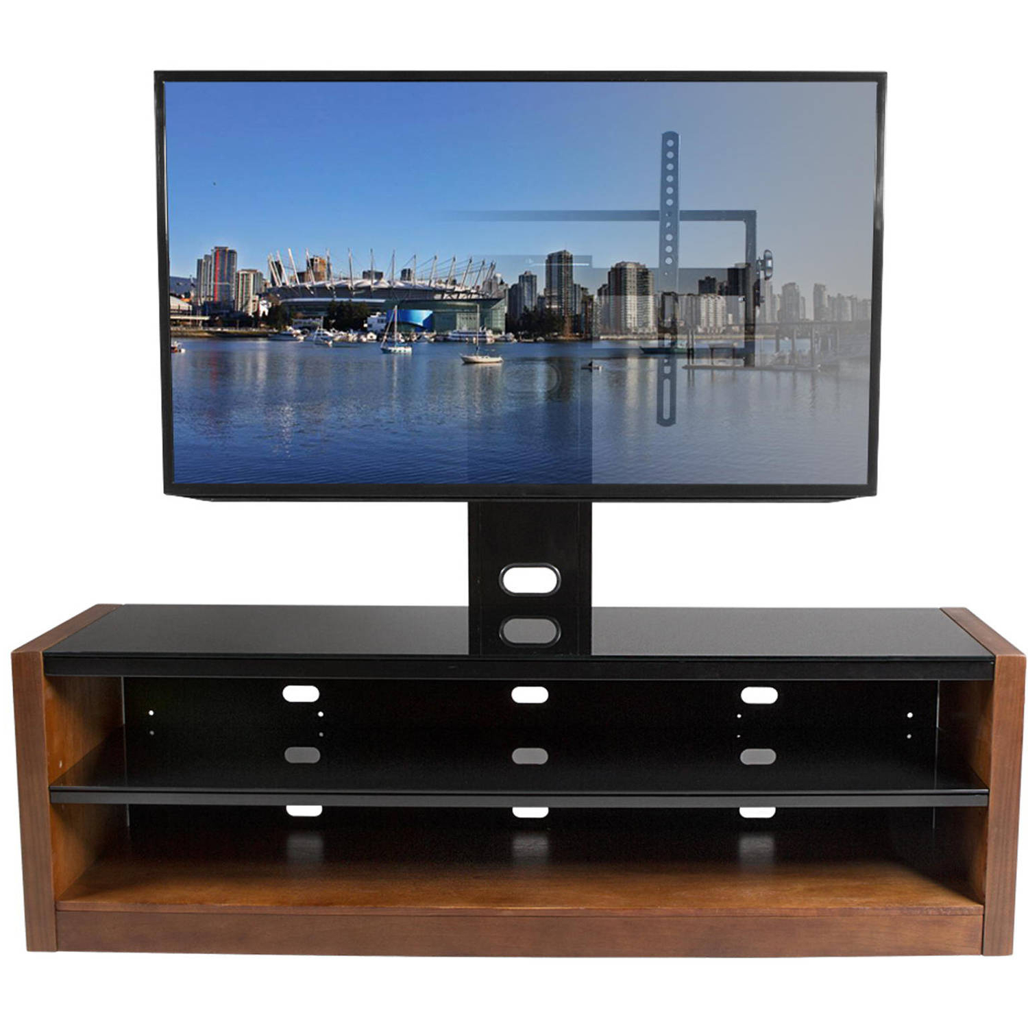 Kanto Mesa 64 Plus Tv Stand With Tilt And Swivel Mount For Displays Regarding Trendy Tv Stands Swivel Mount (Gallery 17 of 20)