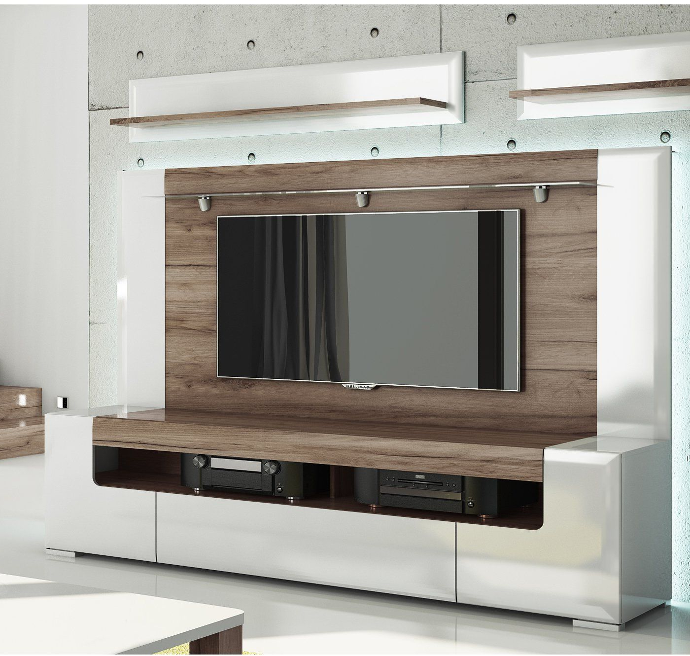 Kilian Black 60 Inch Tv Stands In Most Recently Released Toronto Tv Cabinet With Wall Panel – Large – Living Room (View 10 of 20)