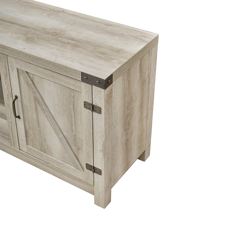 Kilian Grey 49 Inch Tv Stands Regarding Favorite Amazon: We Furniture Az58Fpbdwo Fireplace Stand, White Oak (View 12 of 20)