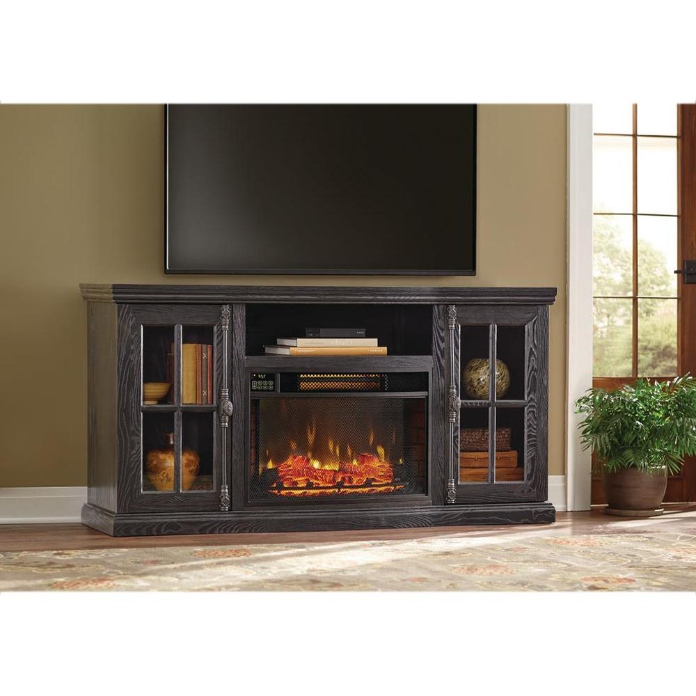 Kilian Grey 49 Inch Tv Stands Throughout Most Current Oak – Electric Fireplaces – Fireplaces – The Home Depot (Gallery 18 of 20)