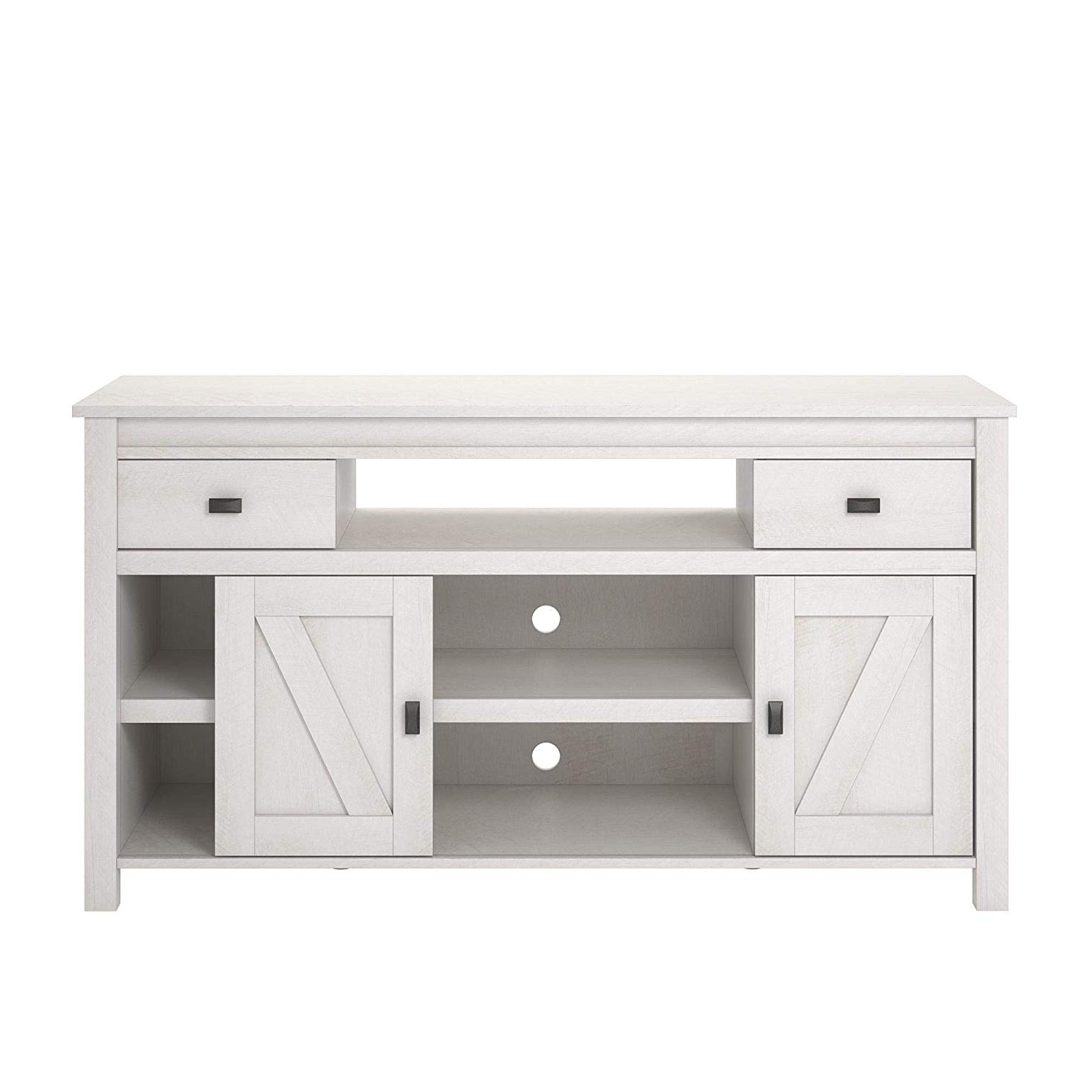 Kilian Grey 60 Inch Tv Stands Regarding Most Recent Amazon: Ameriwood Home 1783341Com Farmington Tv Stand, Ivory Oak (View 12 of 20)
