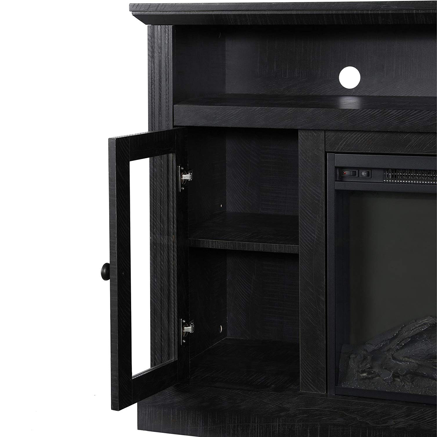 Kilian Grey 74 Inch Tv Stands Intended For Most Current Amazon: Ameriwood Home Chicago Fireplace Tv Stand For Tvs Up To (View 19 of 20)
