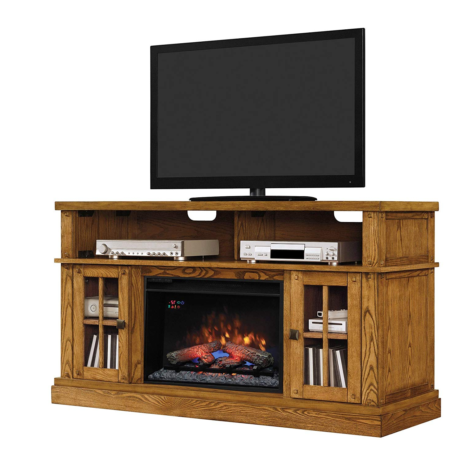 "Kilian Grey 74 Inch Tv Stands With Widely Used Amazon: Classicflame Dakota Tv Stand For Tvs Up To 65"": Home (Gallery 4 of 20)"