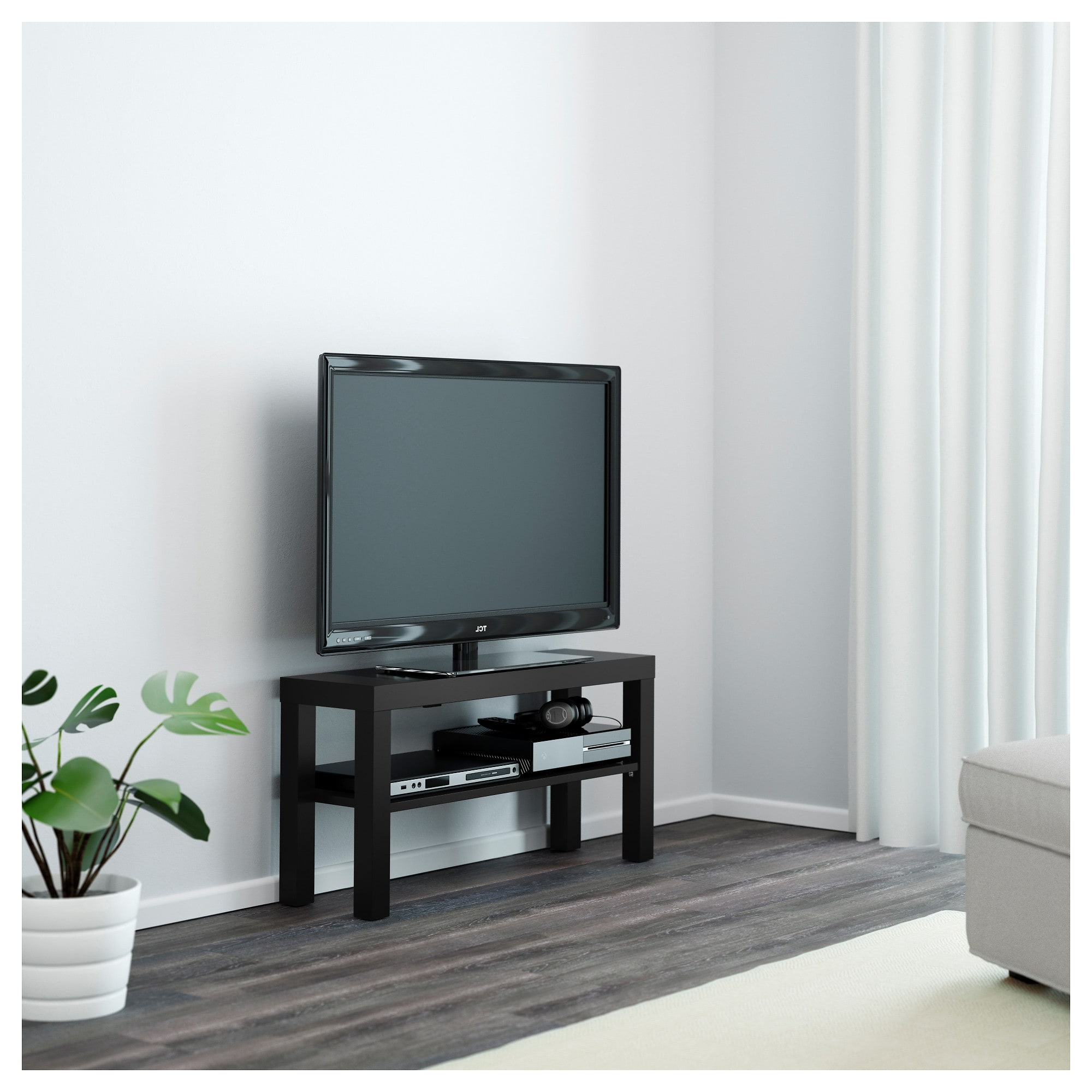 Lack Tv Bench Black 90 X 26 X 45 Cm – Ikea With Regard To Well Known Ikea Tv Console Tables (View 16 of 20)
