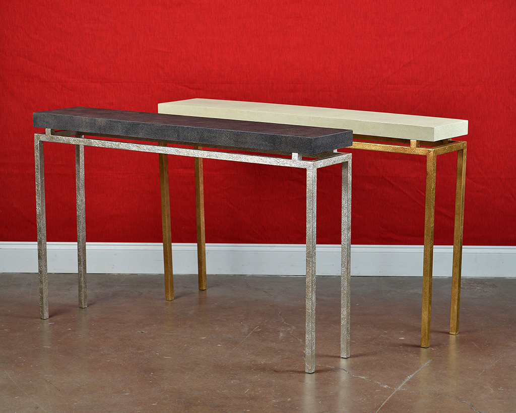 Large Benjie Clean Lined Console – Mecox Gardens Throughout Most Up To Date Faux Shagreen Console Tables (View 11 of 20)