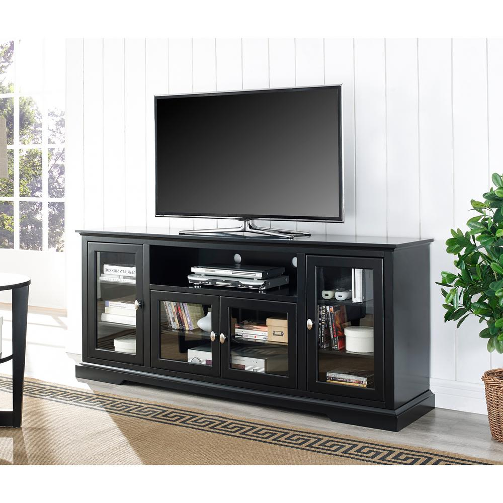 Large Black Tv Unit With Recent Tv Cabinet With Doors Target Stands Walmart 65 Inch Tall Black Stand (View 18 of 20)