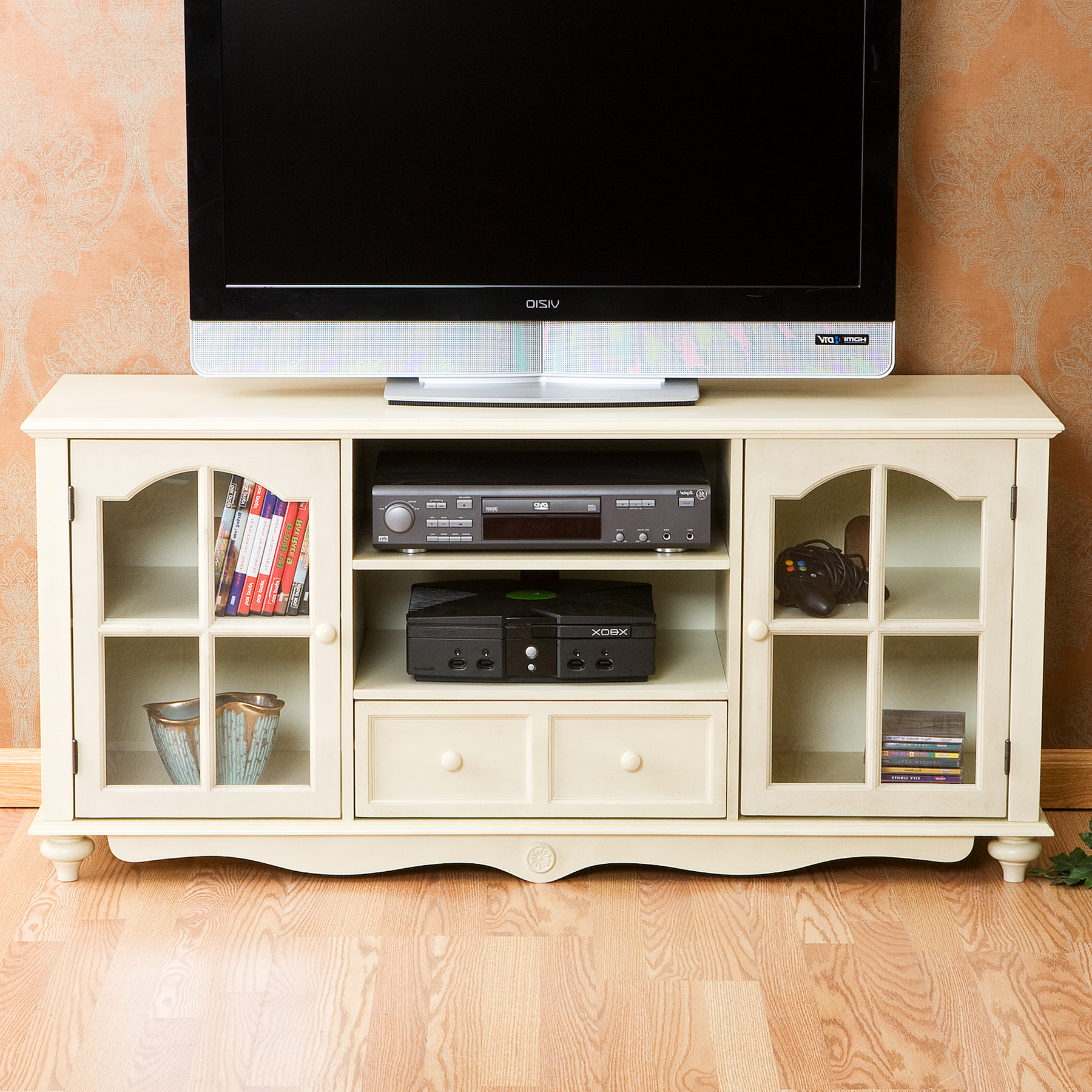 Large White Tv Stands With Regard To Famous Crystal Pointe White Tv Lift Cabinet (View 7 of 20)
