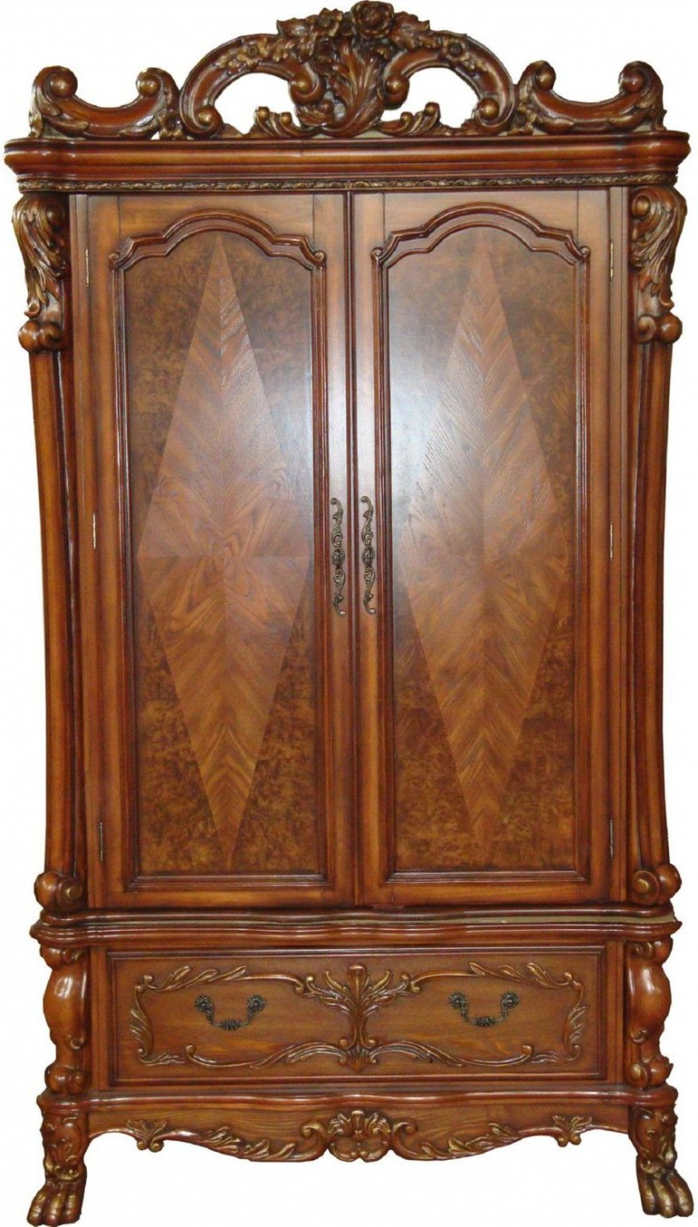 Latest Acme Dresden Cherry Oak Tv Armoire – Dresden Collection: 4 Reviews In Cherry Tv Armoire (View 11 of 20)