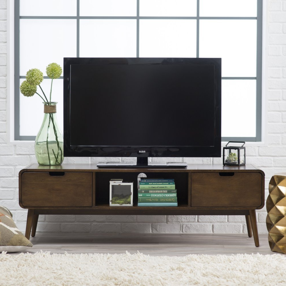 Latest Amazon: Belham Living Carter Mid Century Modern Tv Stand Intended For Draper 62 Inch Tv Stands (View 10 of 20)