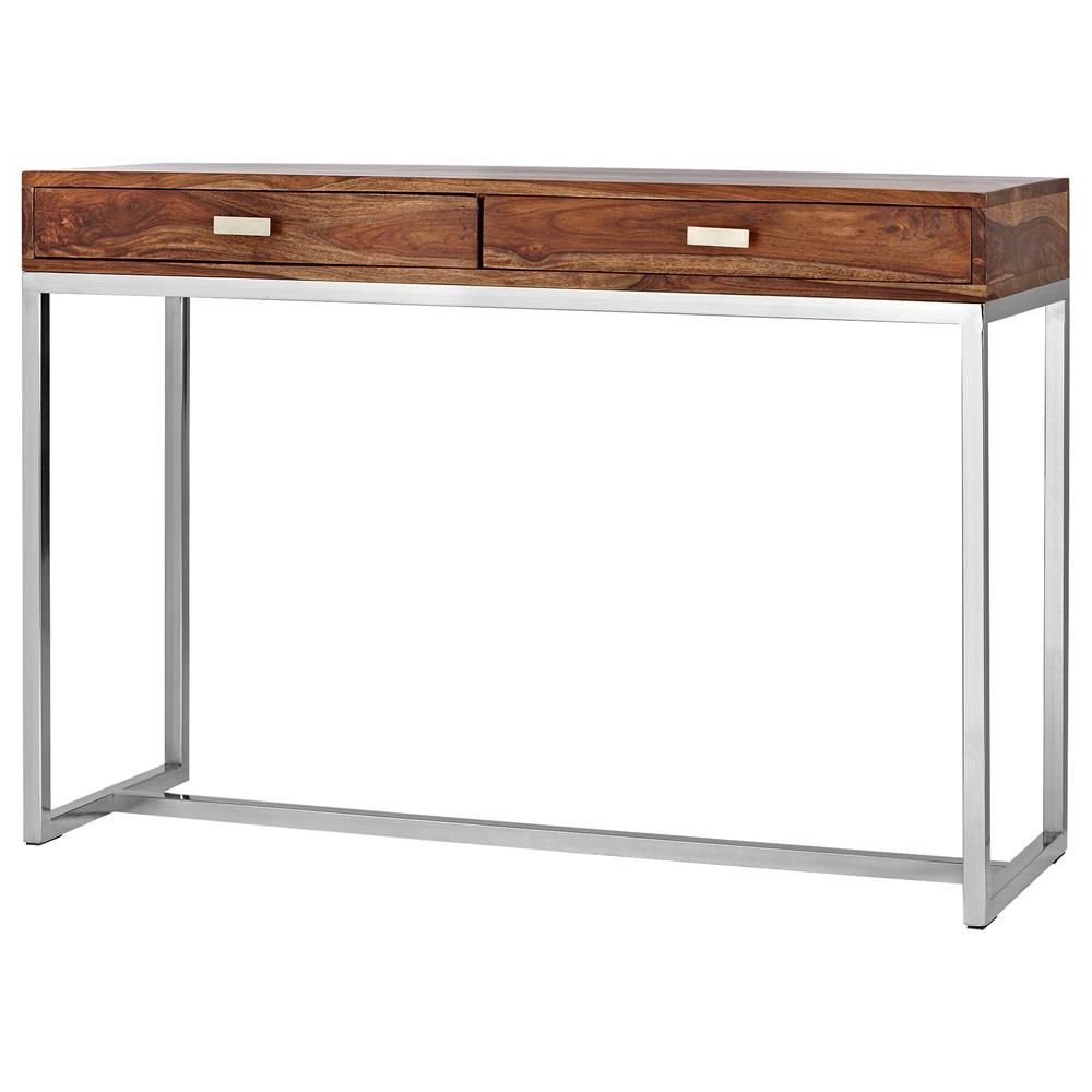 Latest Atelier – Scandinavian – Wood Console Table With Stainless Steel With Tobias Media Console Tables (Gallery 5 of 20)