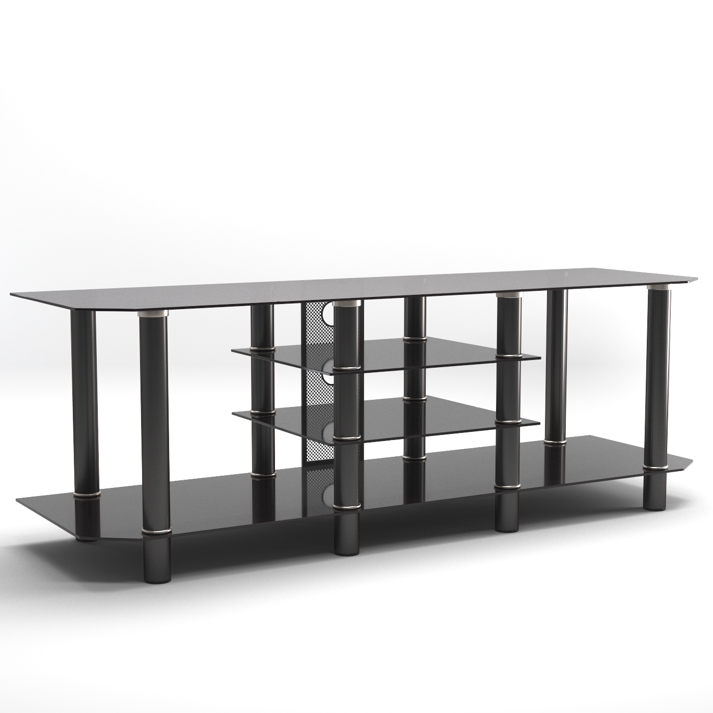 Latest Black Glass Tv Stands Inside Salerno 60 Inch Glass Tv Stand In Black (View 13 of 20)