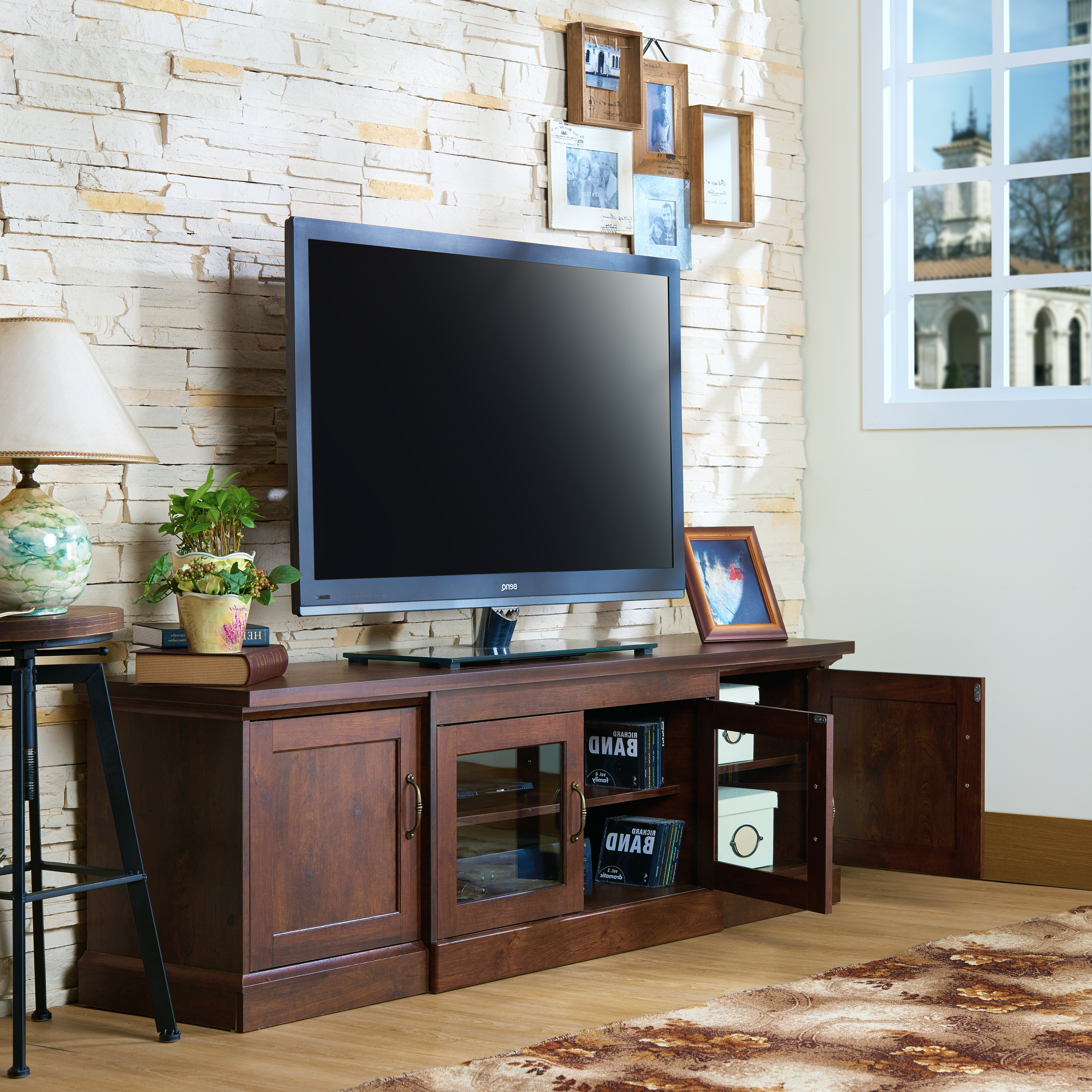 Latest Casey Umber 74 Inch Tv Stands Regarding Shop Walder Rustic 68 Inch Tv Standfoa – On Sale – Free Shipping (View 11 of 20)