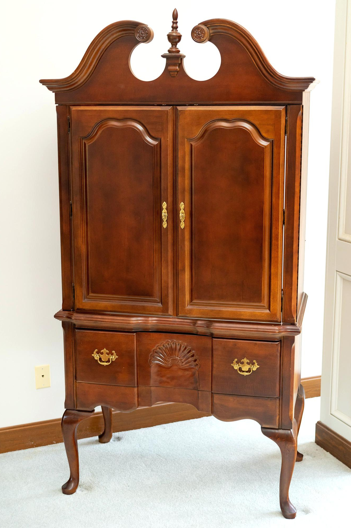 Latest Cherry Tv Armoire Intended For Cherry Tv Armoire Cherry Cherry Mahogany Entertainment Mahogany (View 12 of 20)