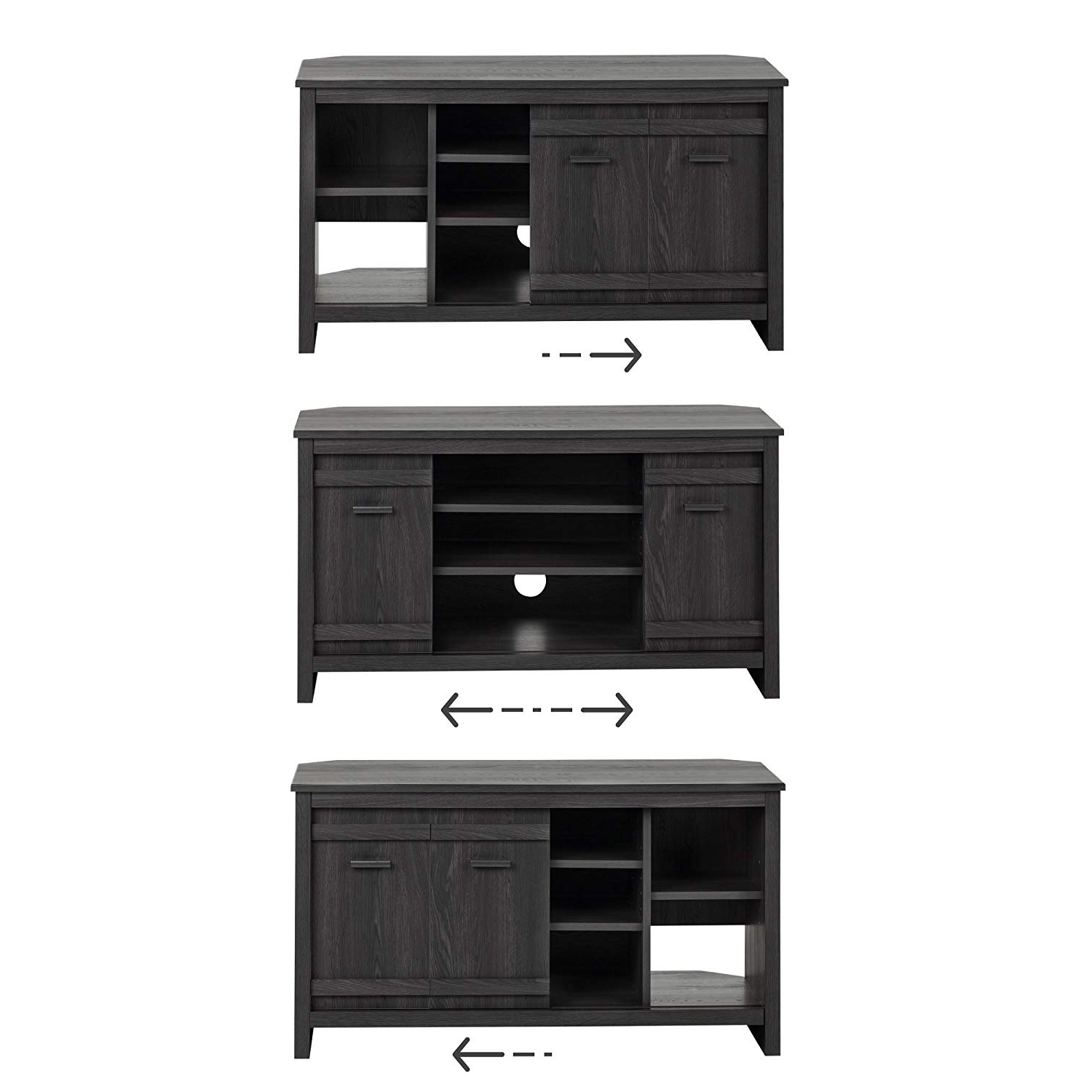 Latest Cordoba Tv Stands In Amazon: South Shore Exhibit Corner Tv Stand With Sliding Doors (View 15 of 20)