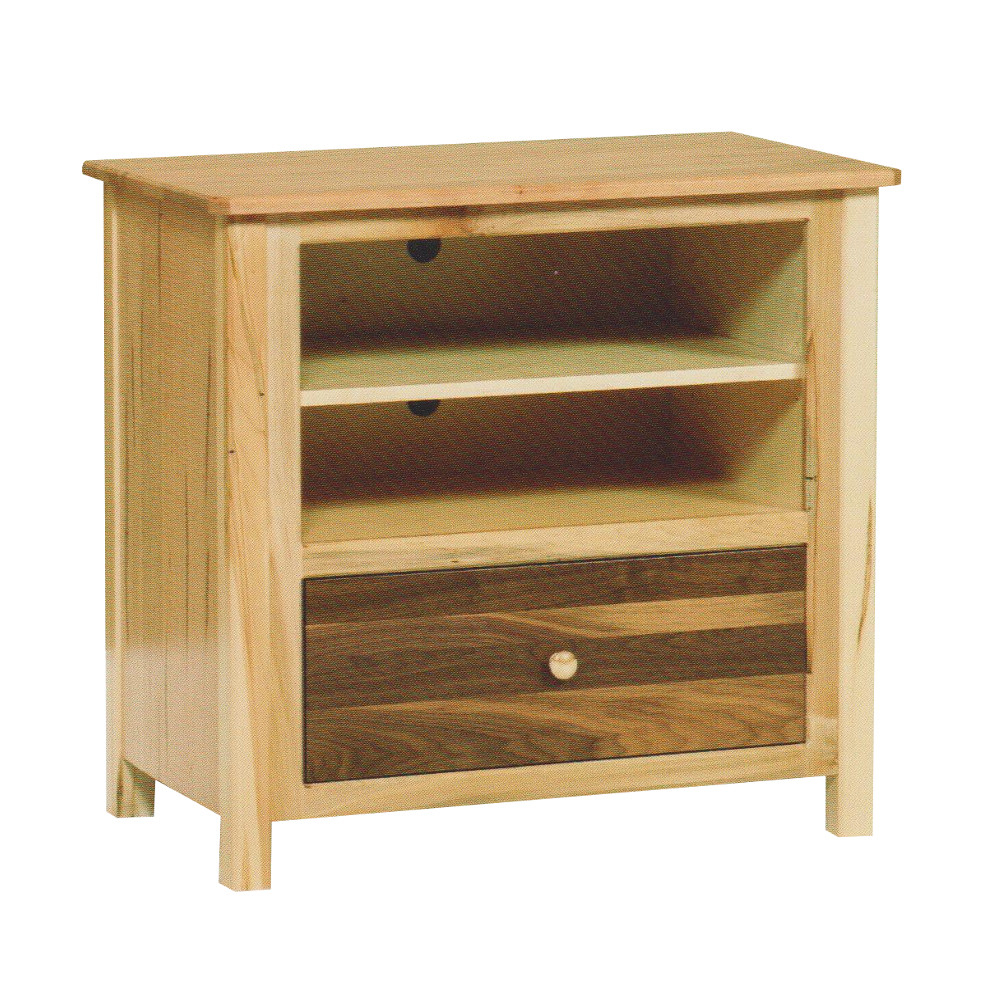 Latest Cornwell Small Wormy Maple/walnut Tv Stand – Amish Oak Furniture Inside Maple Wood Tv Stands (View 8 of 20)