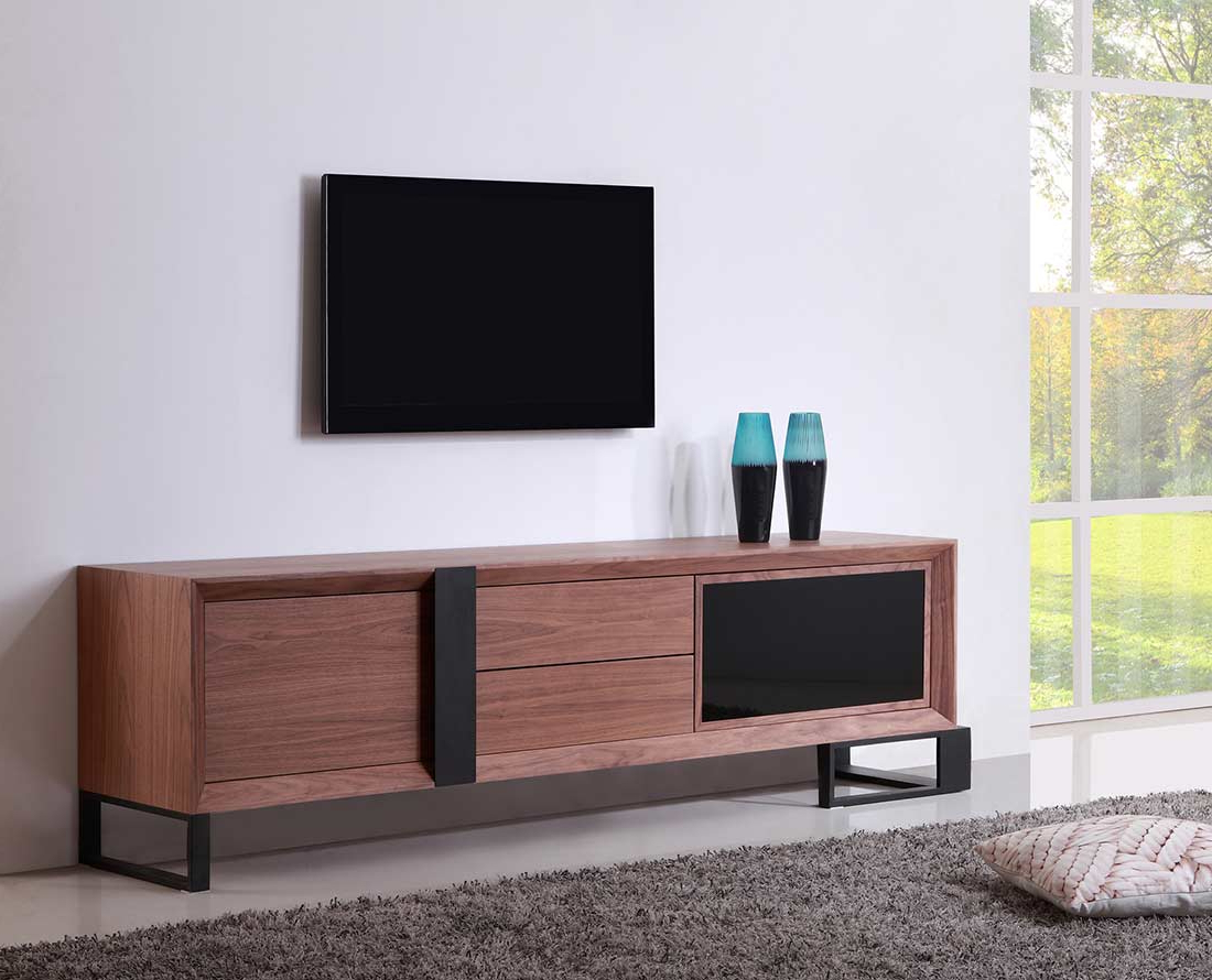 Latest Dark Walnut Tv Stands Pertaining To Tv Stands San Francisco (View 12 of 20)