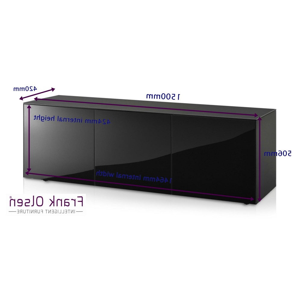 Latest Frank Olsen Intel1500Blk High Gloss Black 1500 Tv Unit Cabinet For Black Gloss Tv Units (View 11 of 20)