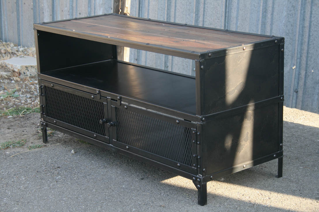 Latest Industrial Tv Cabinets Pertaining To Combine (View 8 of 20)