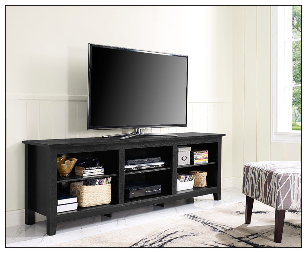 Latest Long Black Tv Stands For Awesome Most Tvs Up To Inch Tv Stand Then Walker Edison Tv Stand To (View 18 of 20)