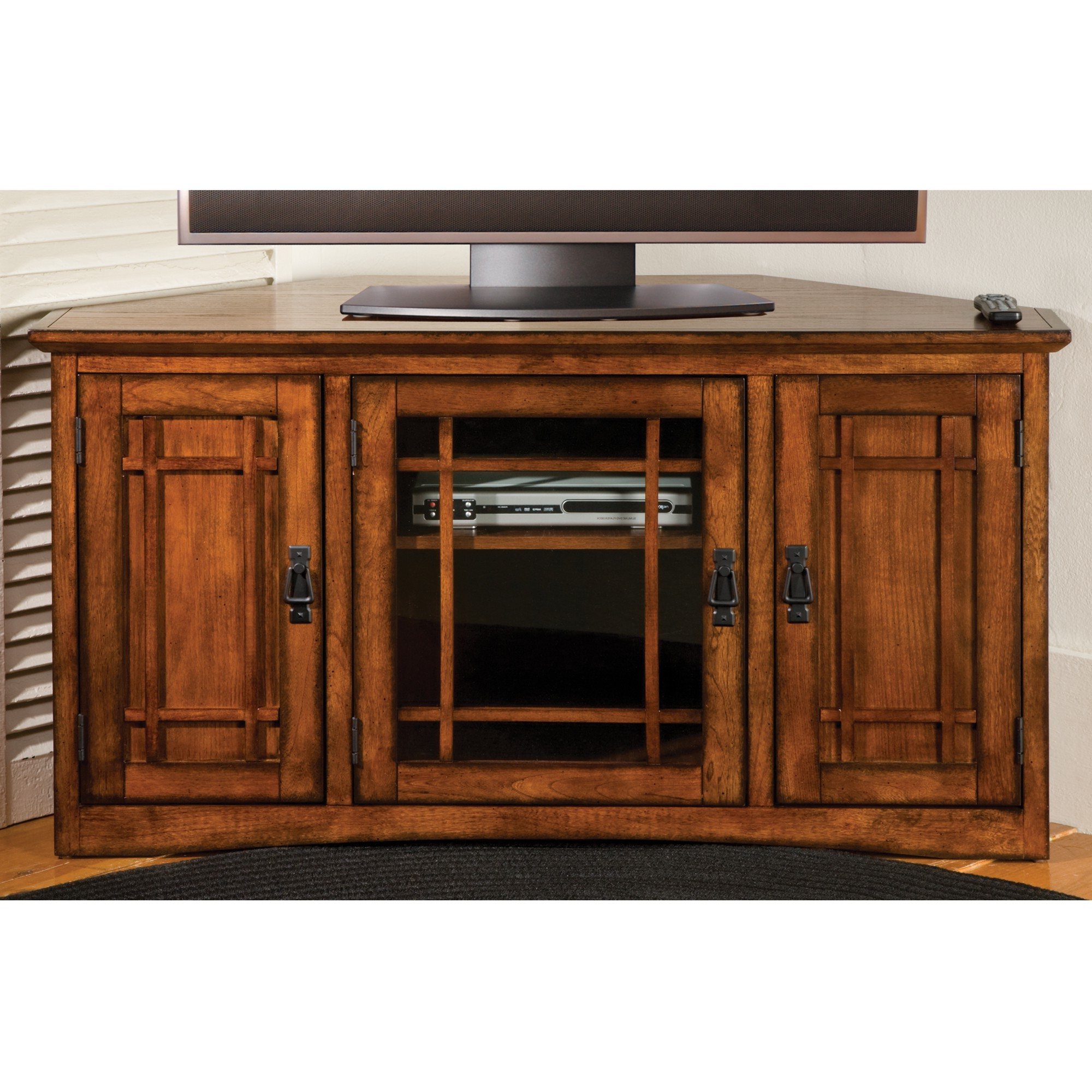 Latest Mission Corner Tv Cabinet (View 11 of 20)