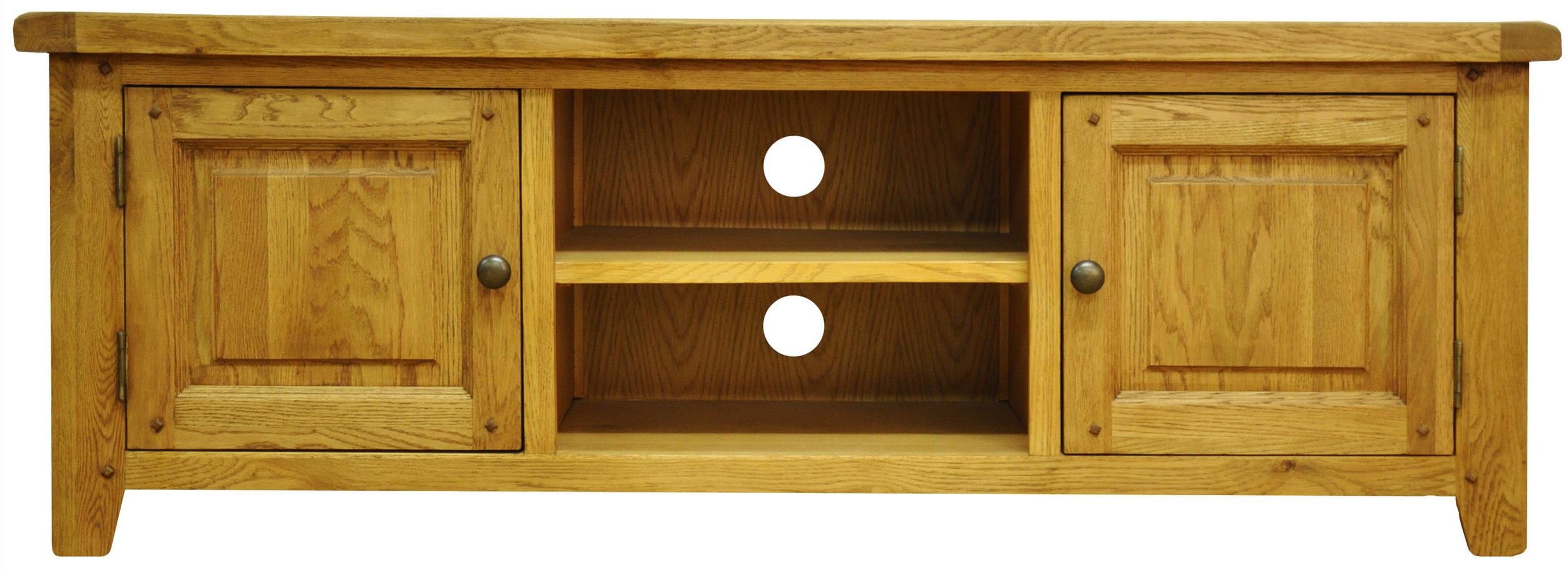 Latest Oak Tv Cabinets With Doors Regarding Tv Cabinets : Stanton Large Tv Unitstanton Large Tv Unit – Branches (View 7 of 20)