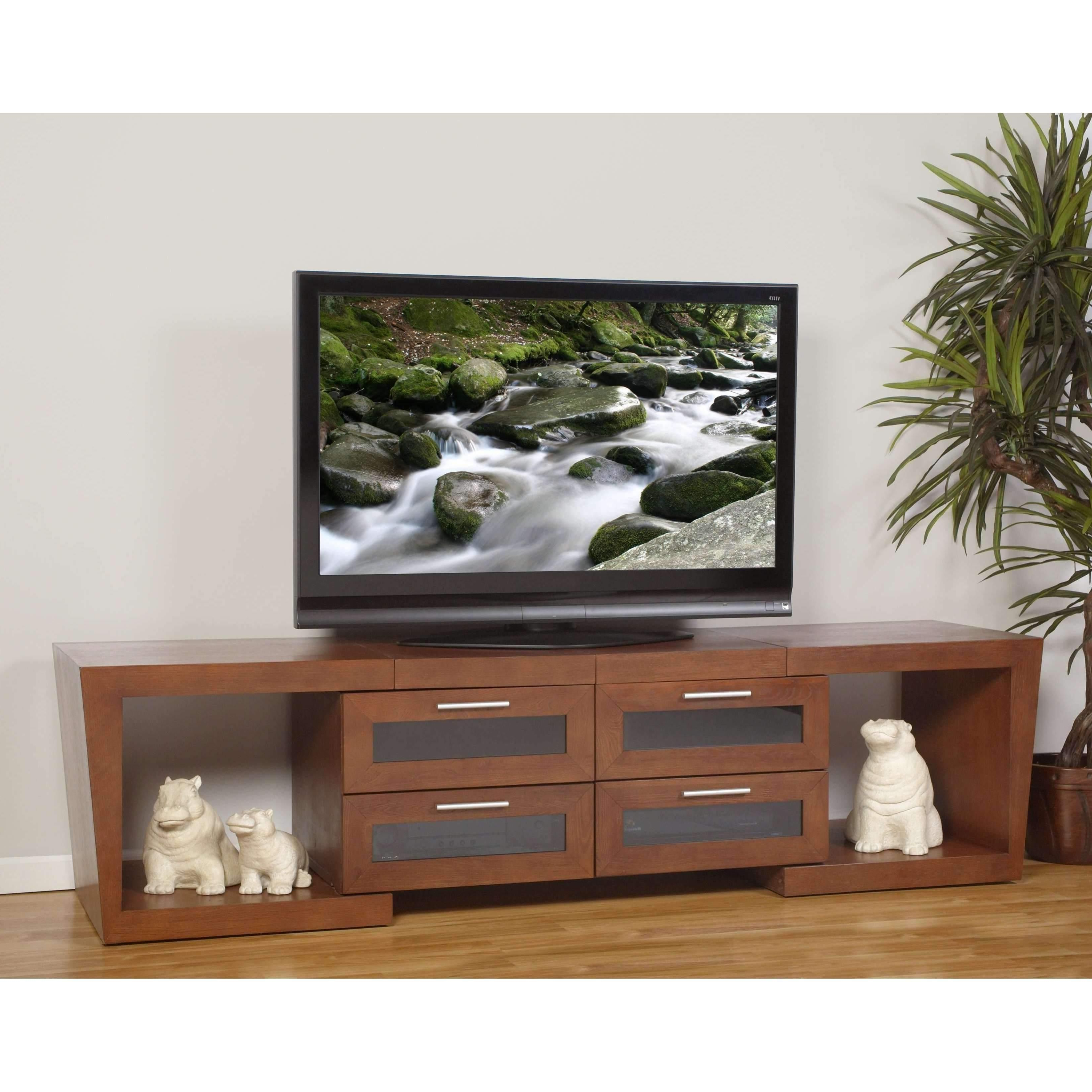 """Latest Plateau Valencia 5187 W Wood Expandable 51"""" – 87"""" Tv Stand, Walnut With Regard To Valencia 70 Inch Tv Stands (Gallery 4 of 20)"""