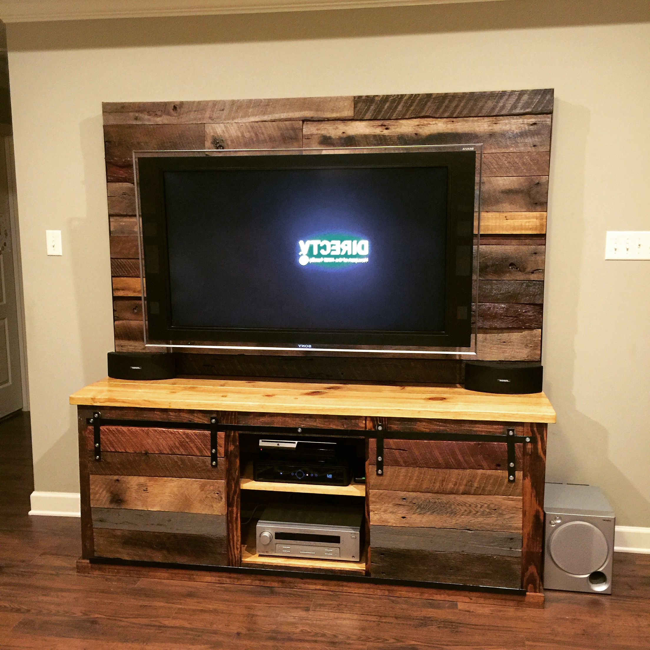 Latest Rustic Media Console #rustic #barnwood #pallet #reclaimedwood #diy Regarding Cato 60 Inch Tv Stands (View 17 of 20)