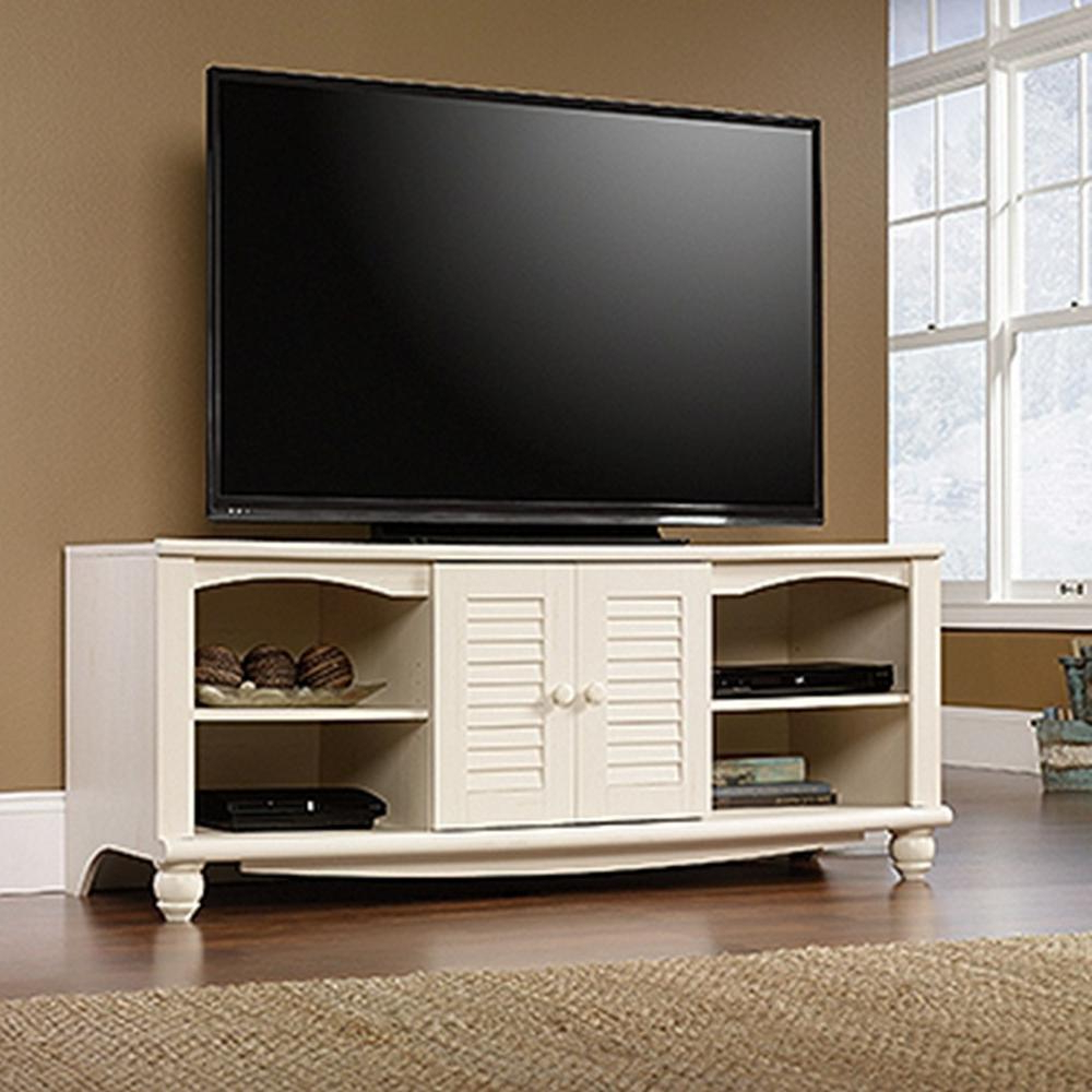 Latest Sauder – Tv Stands – Living Room Furniture – The Home Depot Within Low Oak Tv Stands (View 7 of 20)