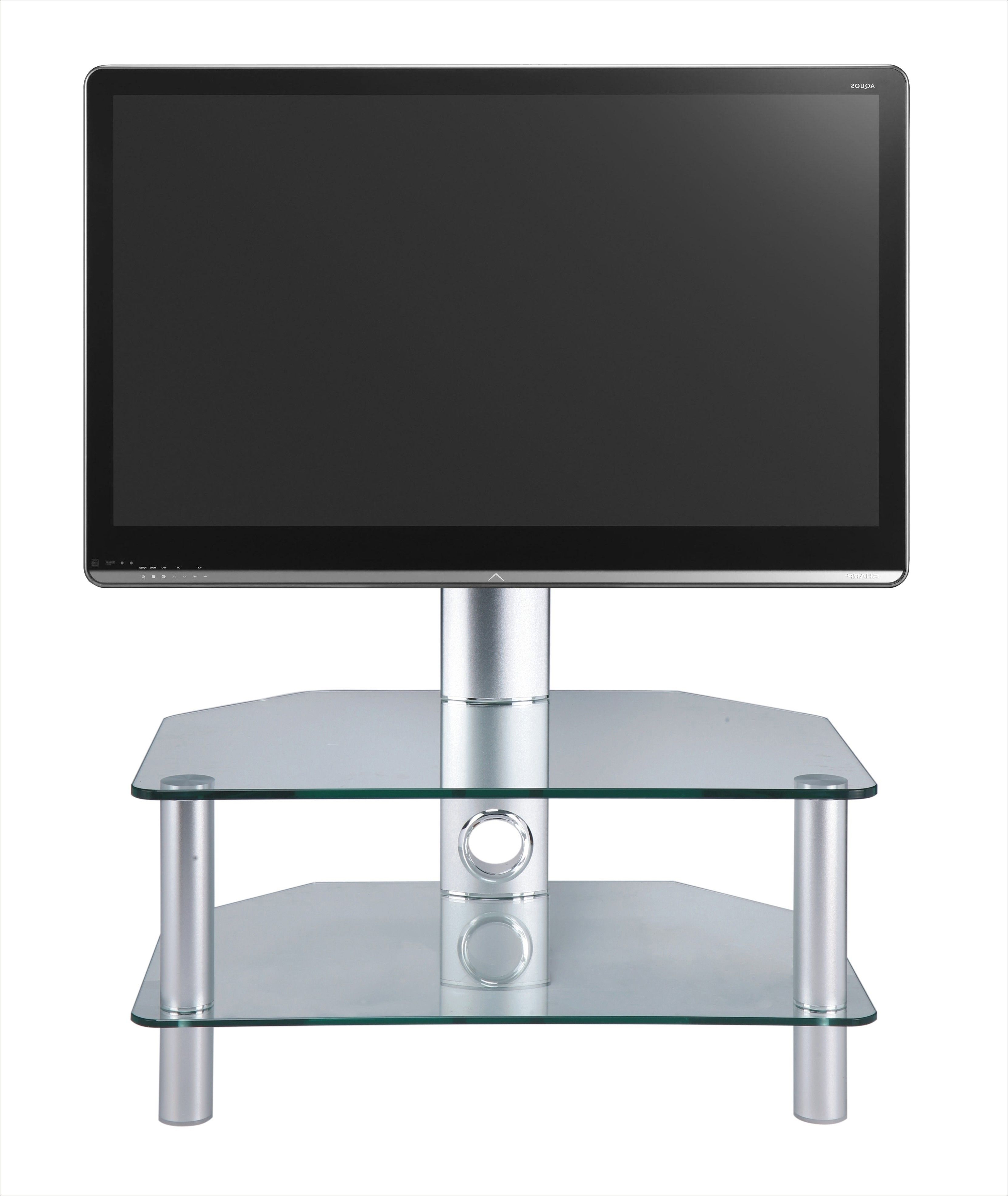 "Latest Stil Tv Stands Within Swivel Clear Glass Cantilever Tv Stand Up To 37""stil Stand (View 8 of 20)"