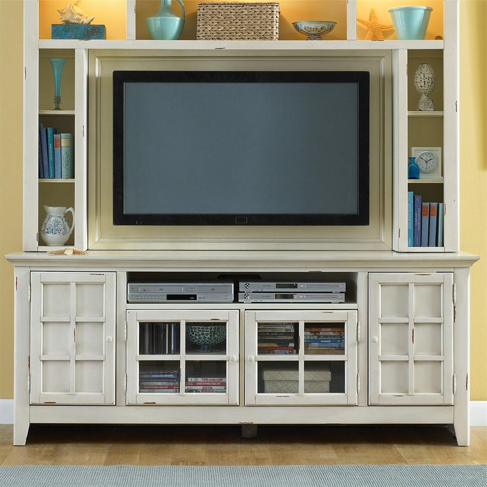 Latest Storage Tv Stands Pertaining To New Generation Coastal Style Entertainment Console With Storage (View 7 of 20)
