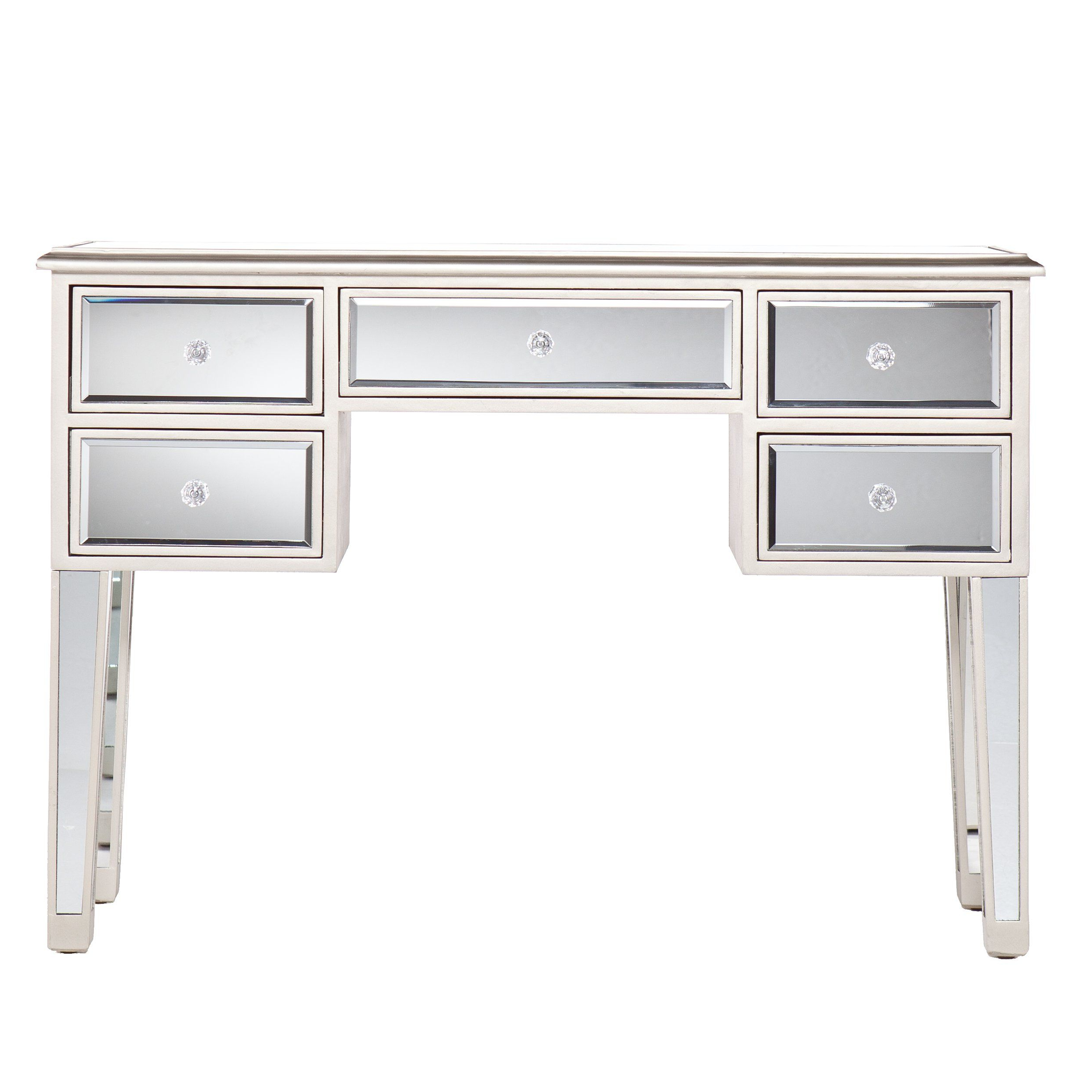 Latest Tobias Media Console Tables Within Southern Enterprises Mirage Mirrored Media Console Table Matte (Gallery 4 of 20)