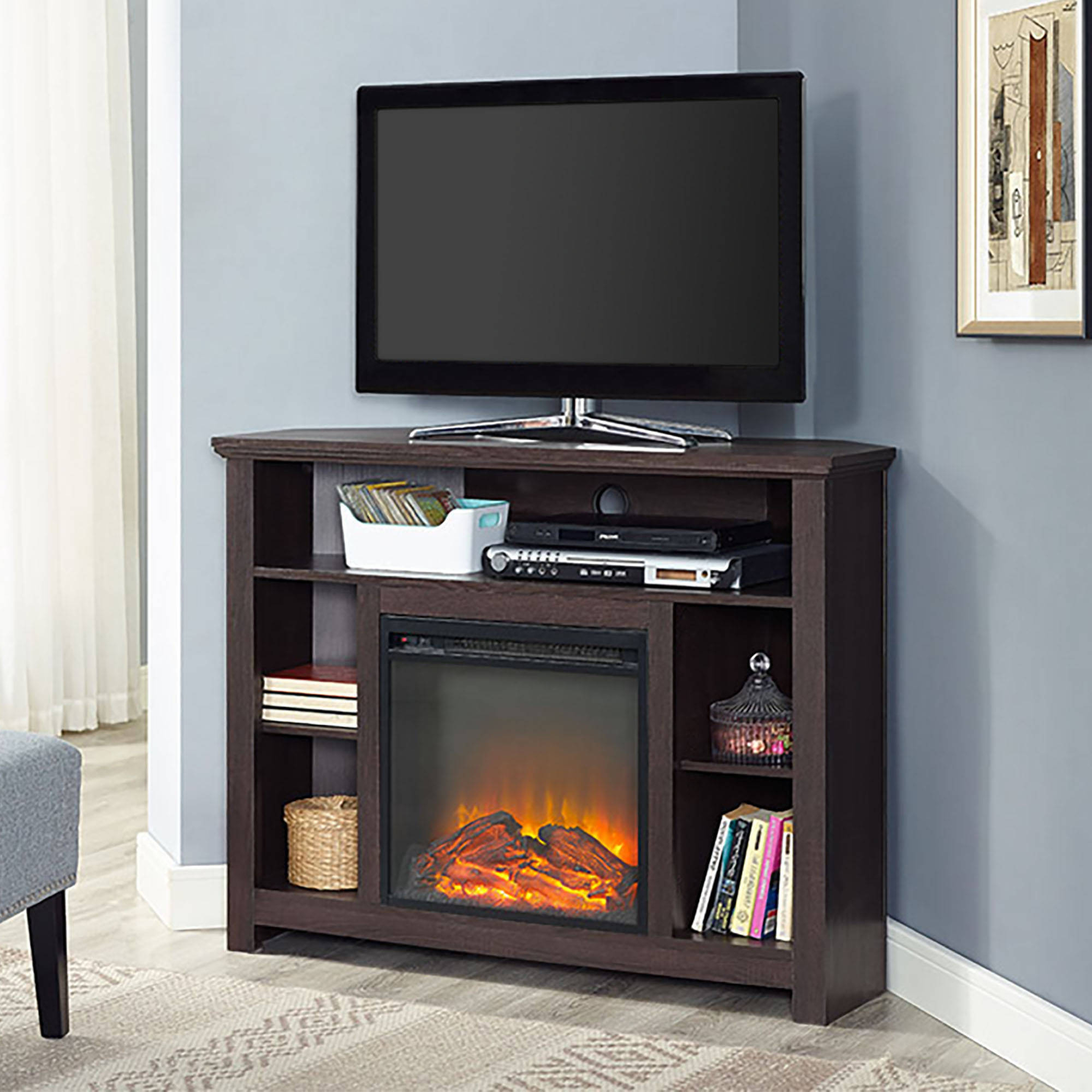 Latest Tv Stands & Entertainment Centers – Walmart Within Tv Stands With Storage Baskets (Gallery 15 of 20)