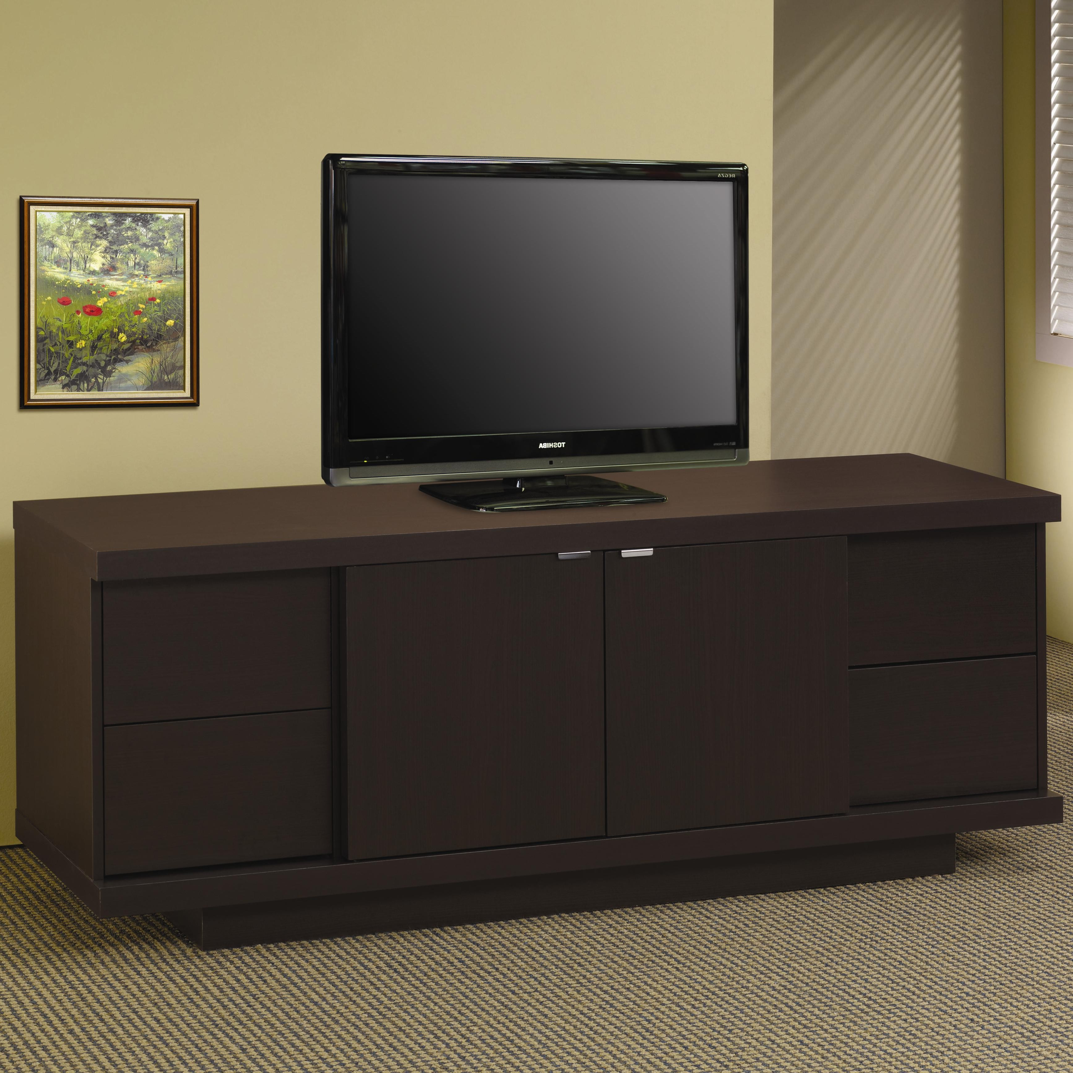 Latest Tv Stands With Drawers And Shelves Regarding Tv Stands Contemporary Media Console With Drawers And Shelves Lowest (View 20 of 20)