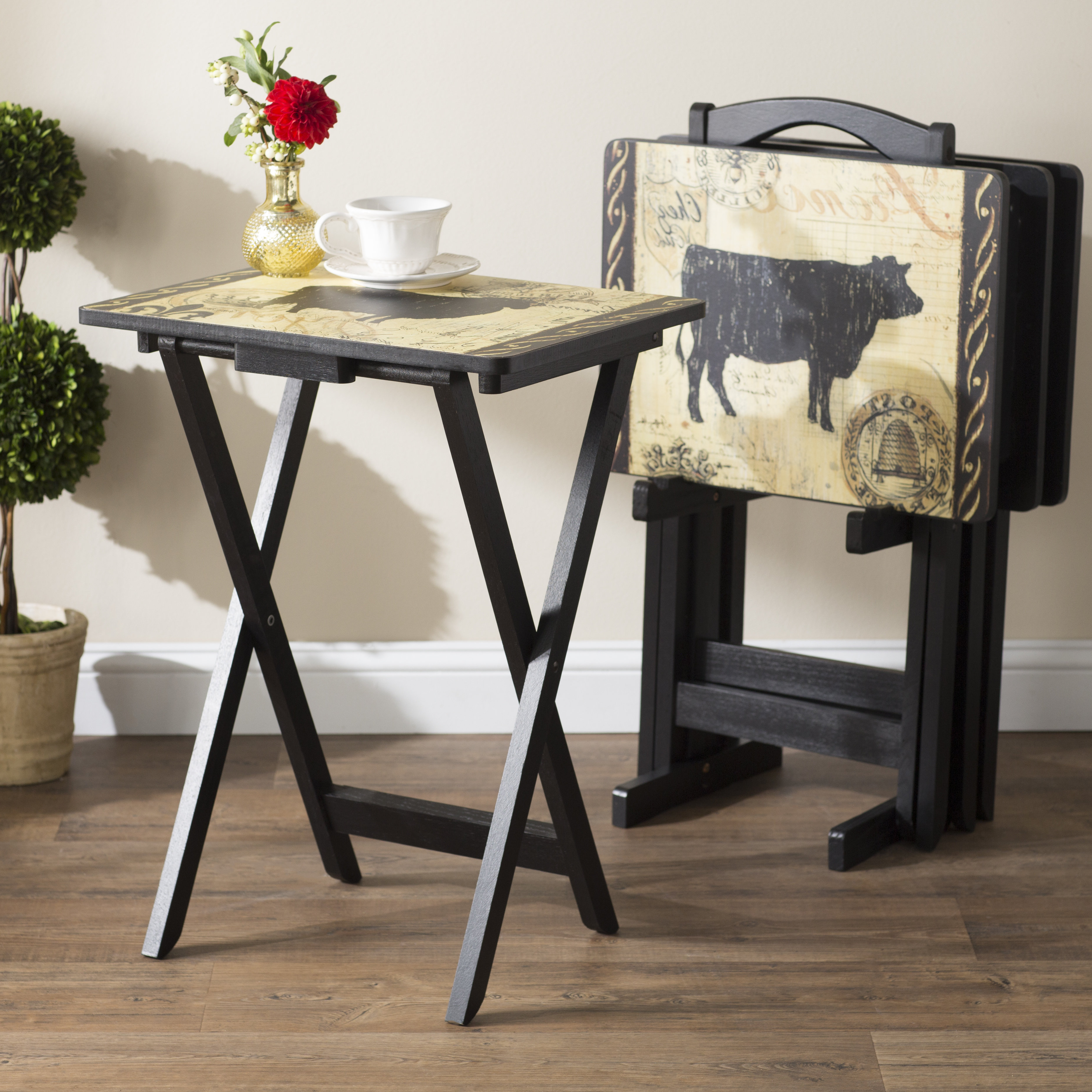 Latest Tv Tray Set With Stands Within Tv Trays You'll Love (View 15 of 20)