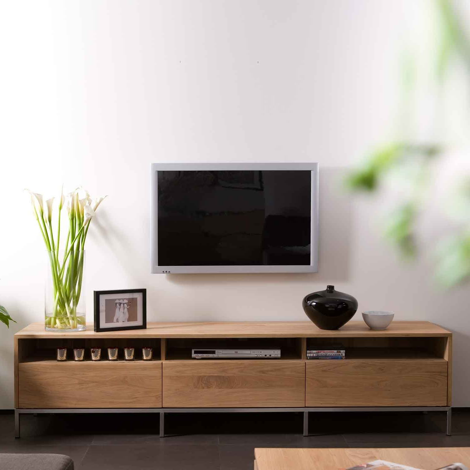 Latest Tv Units With Storage In Ethnicraft Ligna Oak Tv Units (Gallery 12 of 20)