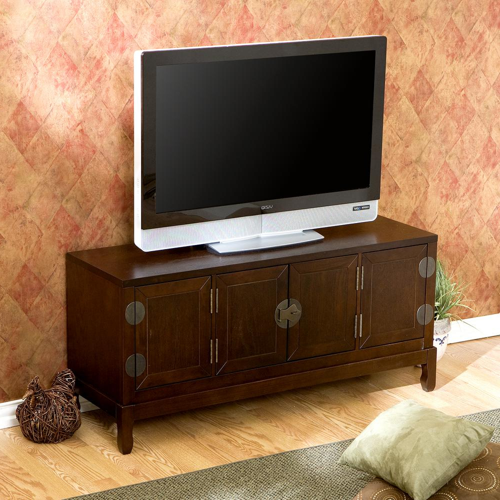 Latest Unbranded Dynasty Espresso Entertainment Center Ms9865 – The Home Depot For Asian Tv Cabinets (Gallery 1 of 20)