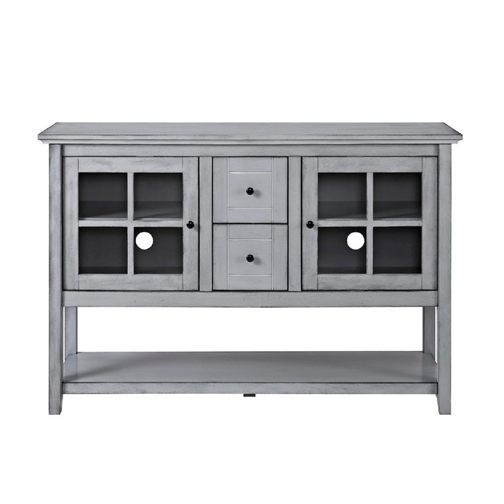 Latest Walker Edison Furniture Company 52 In. Antique Grey Wood Console Throughout Sideboard Tv Stands (Gallery 12 of 20)