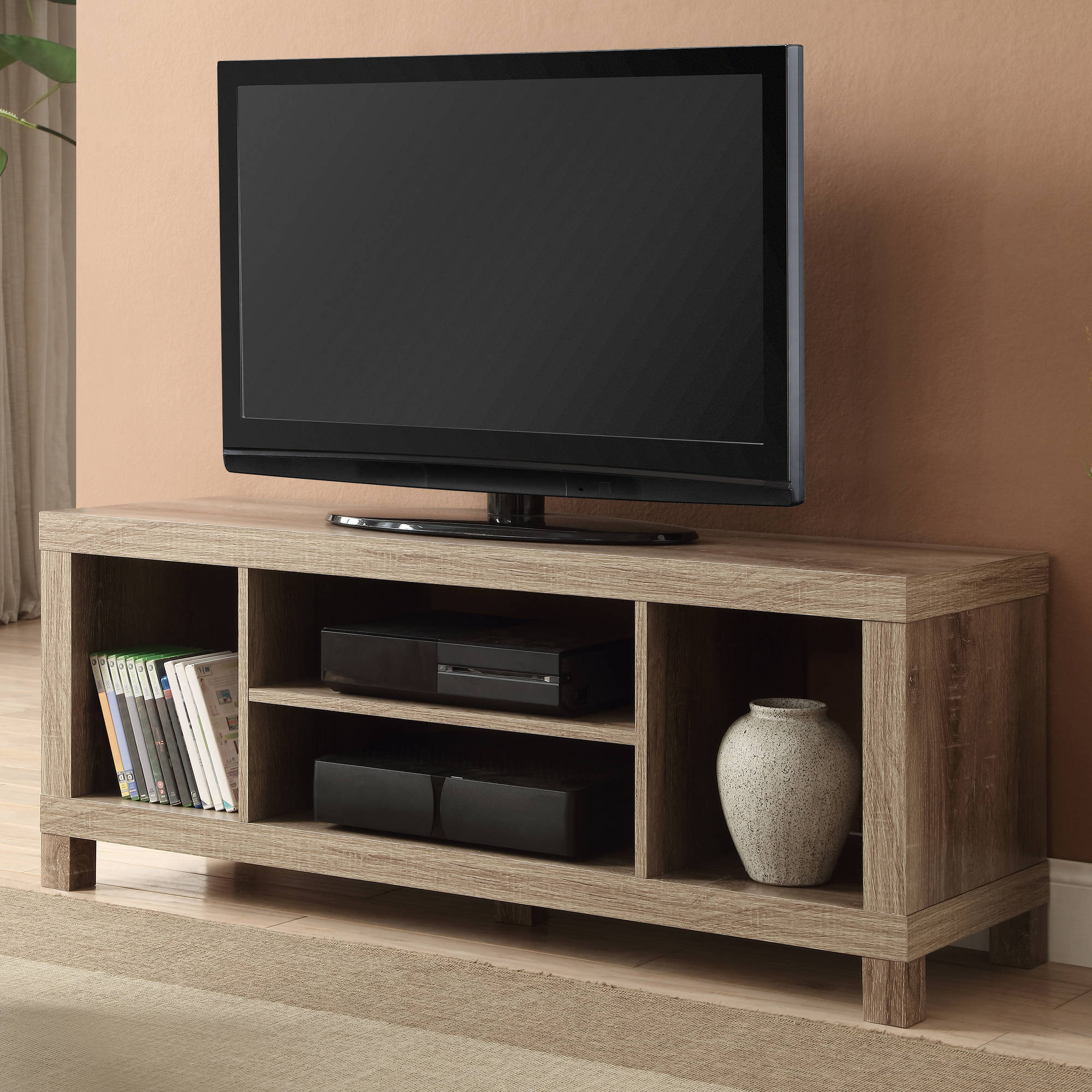 """Latest Wooden Tv Stands For Flat Screens Pertaining To Mainstays Tv Stand For Tvs Up To 42"""", Multiple Colors – Walmart (View 12 of 20)"""