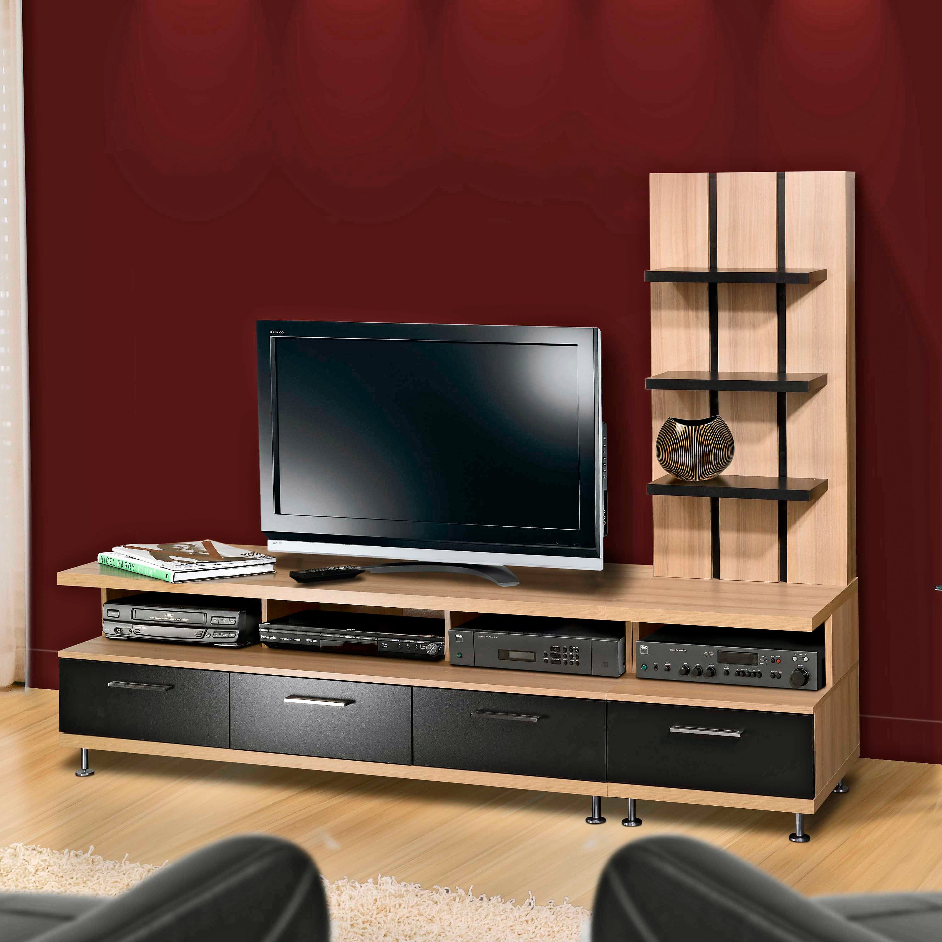 Latest Wooden Tv Stands For Flat Screens With Regard To Best Contemporary Tv Console For Flat Screens — All Contemporary Design (View 11 of 20)
