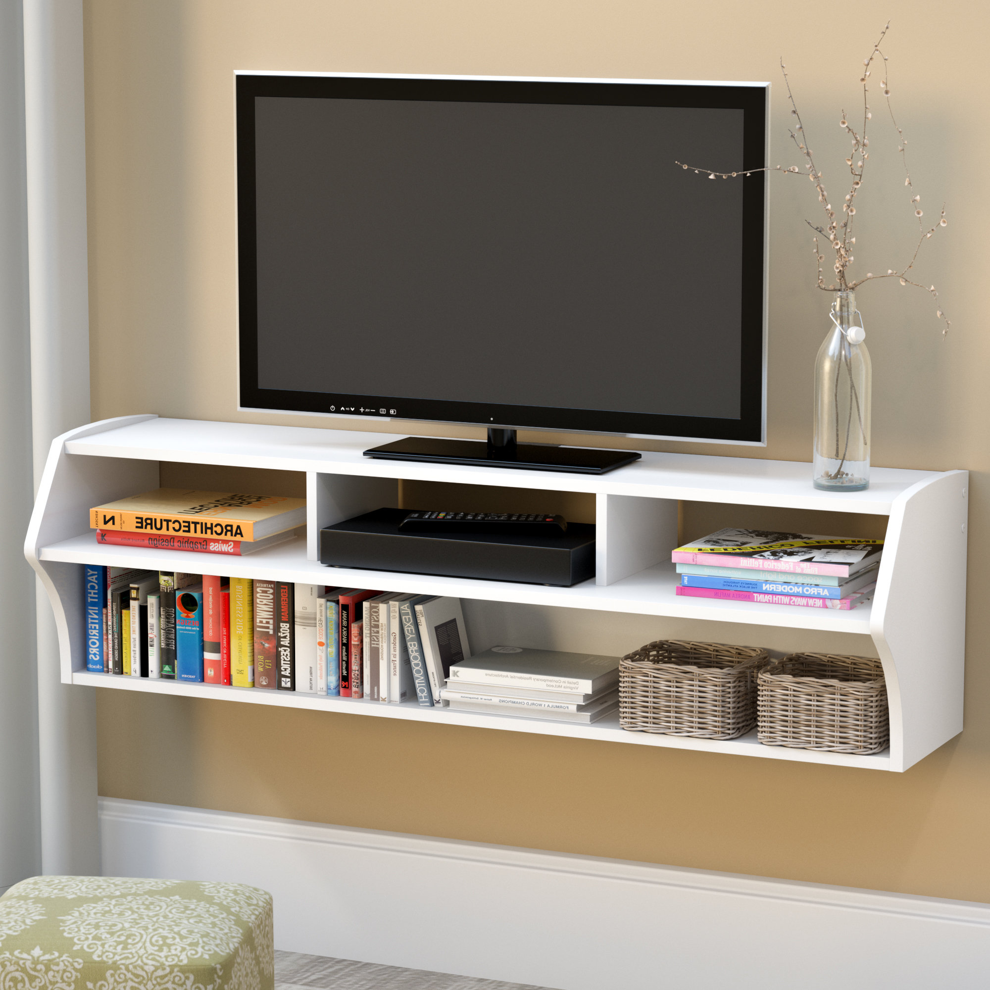 "Lauderdale 62 Inch Tv Stands Regarding Popular Andover Mills Reuben Tv Stand For Tvs Up To 60"" & Reviews (View 5 of 20)"