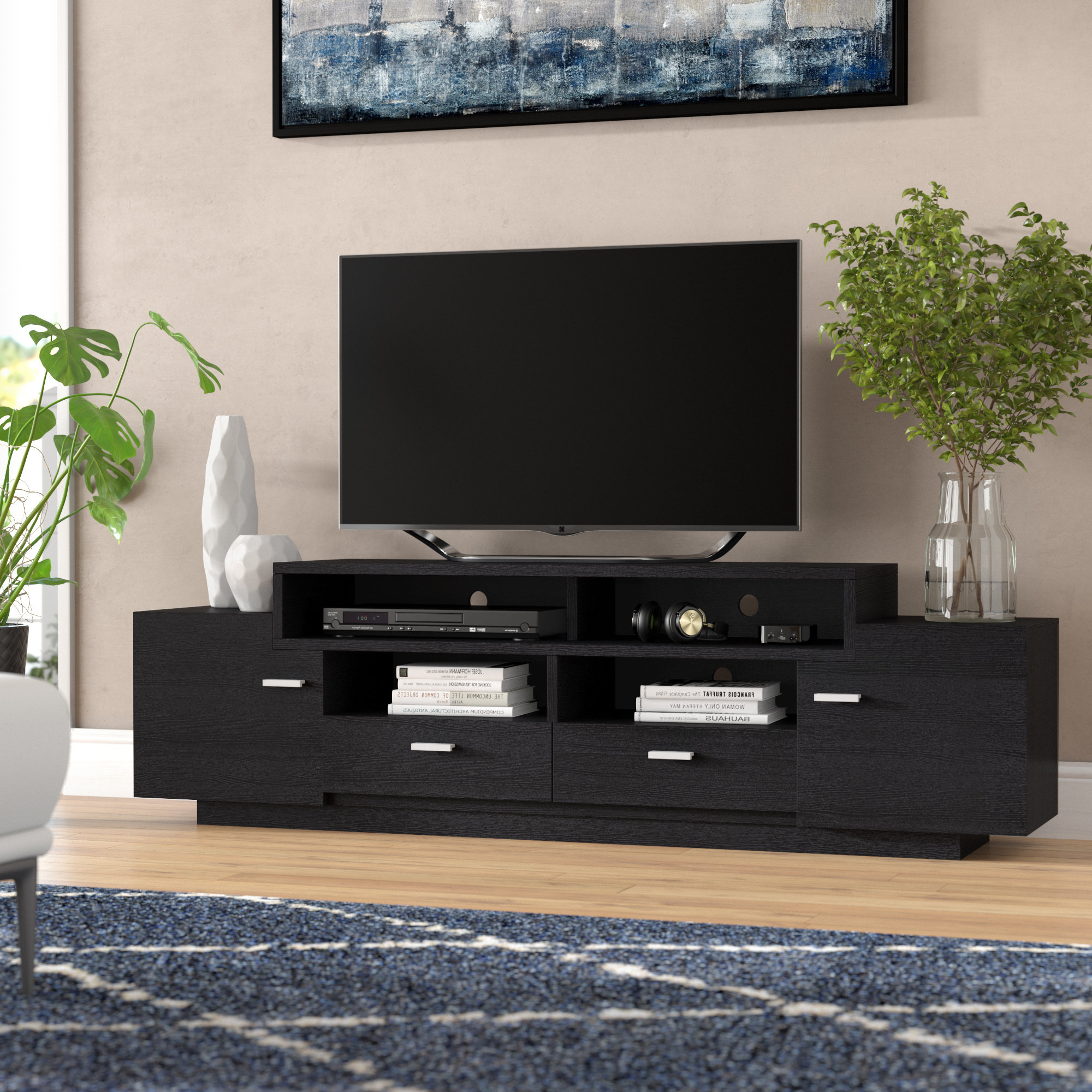 "Laurent 70 Inch Tv Stands Intended For Well Liked Wade Logan Aston Tv Stand For Tvs Up To 70"" & Reviews (Gallery 10 of 20)"