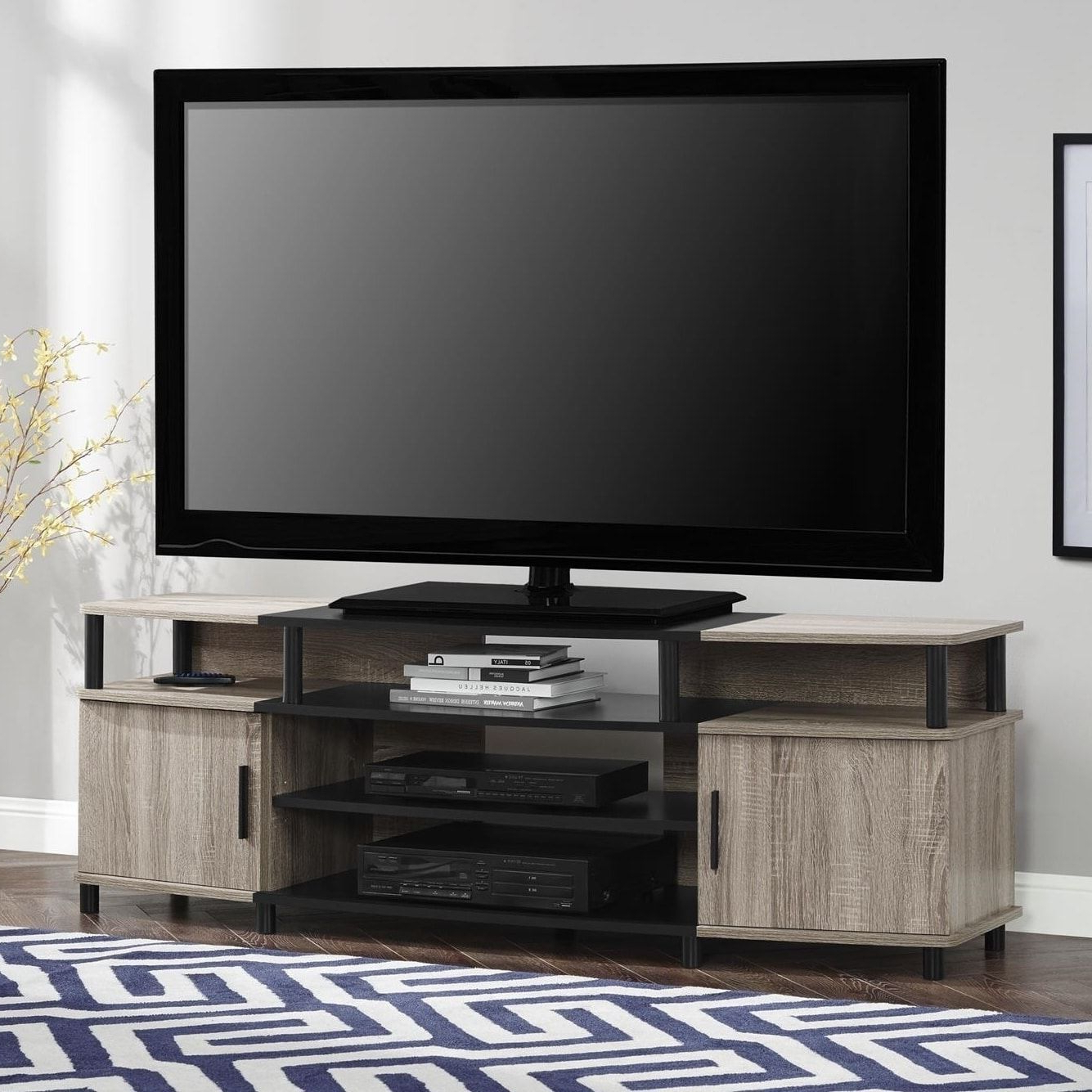 Laurent 70 Inch Tv Stands With Regard To Trendy The Gray Barn Latigo 70 Inch Tv Stand (Sonoma Oak/ Black) In  (View 5 of 20)