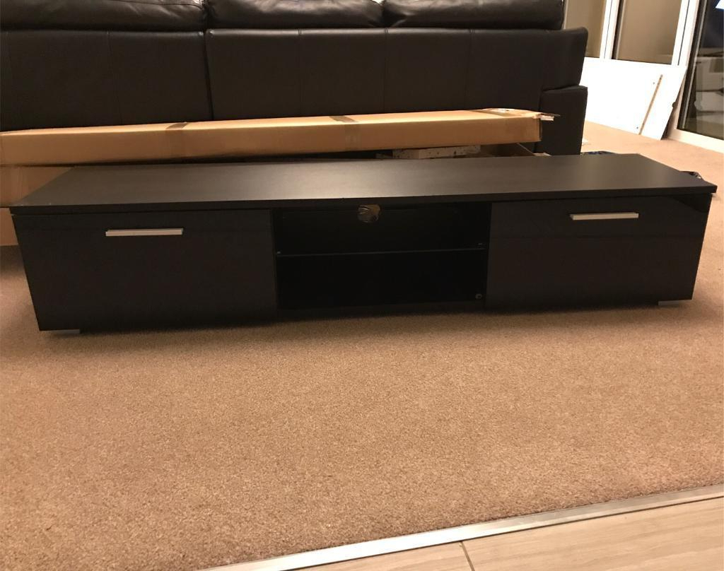 Led Black Tv Unit Long Tv Stand Cabinet For Ps4 Xbox One Dvd Player With Regard To Well Liked Long Tv Stands (Gallery 16 of 20)