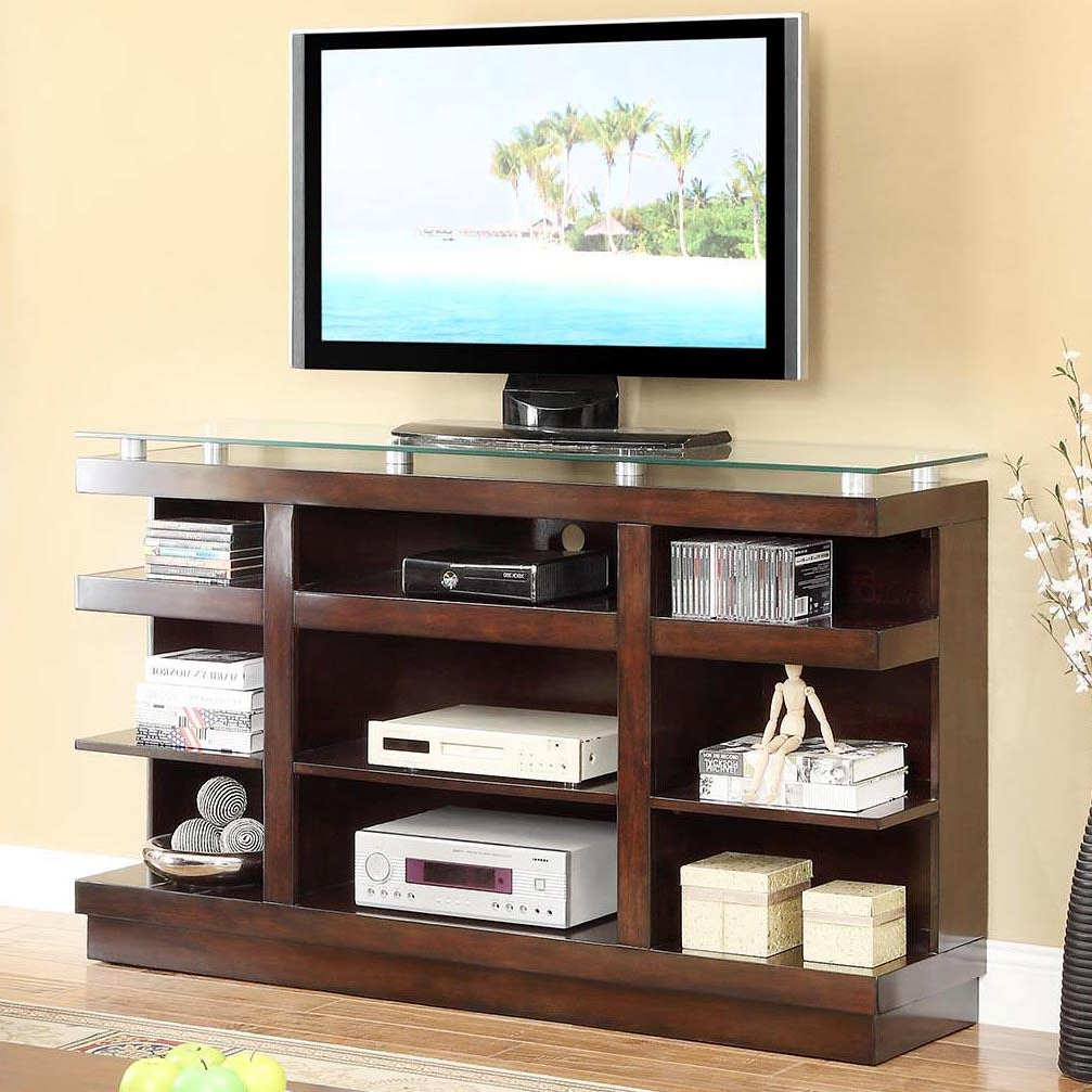 Legends Furniture Novella 9 Shelf Tv Stand With Glass Top (View 7 of 20)