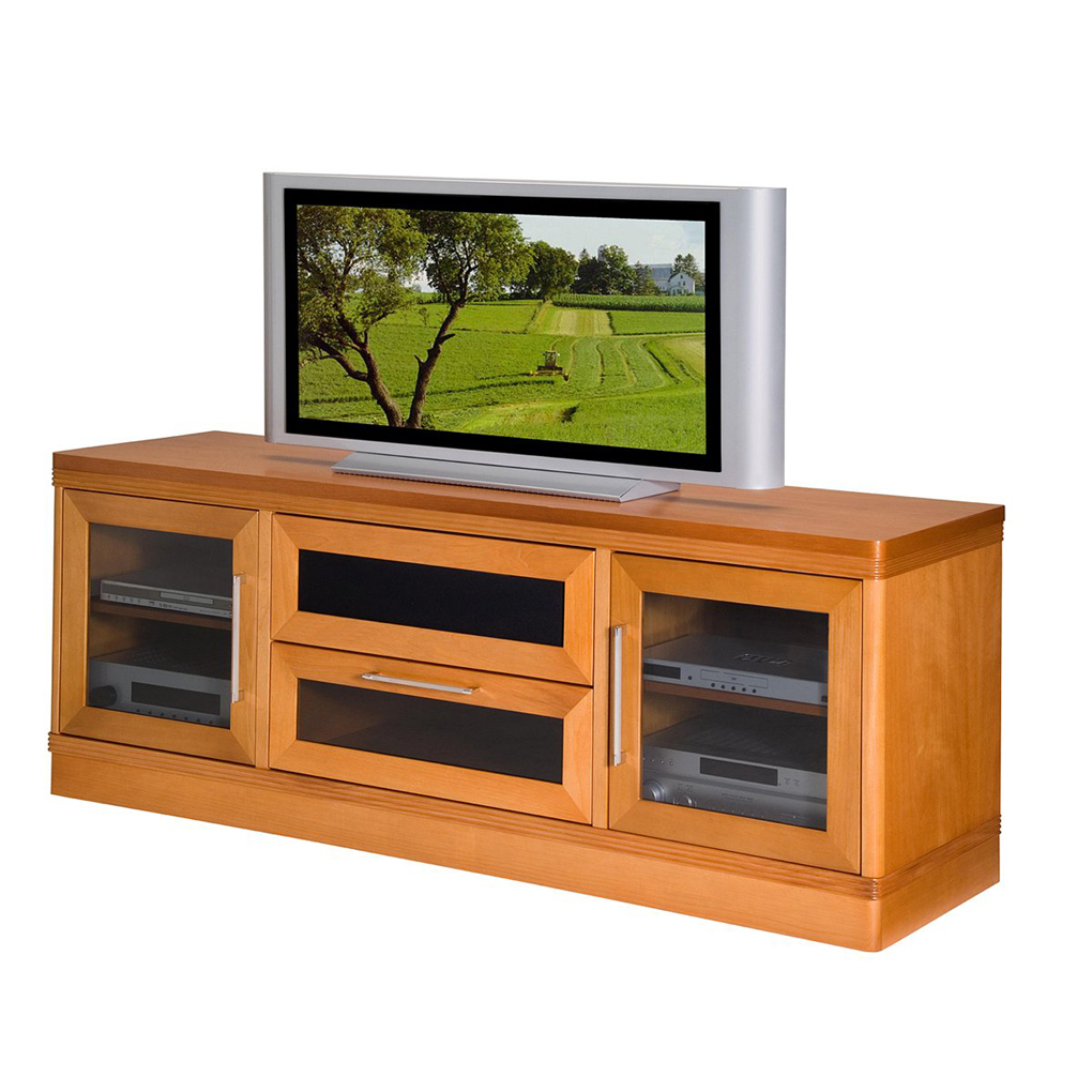 Light Cherry Tv Stands Within Fashionable 70Quot Transitional Tv Stand Console Light Cherry Tv Stands Navy (View 8 of 20)