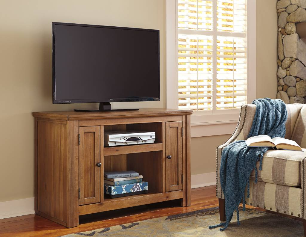 Light Colored Tv Stands In Well Known Signature Design Macibery, Tv Stand, Light Brown W785 18 – Hvl (View 4 of 20)