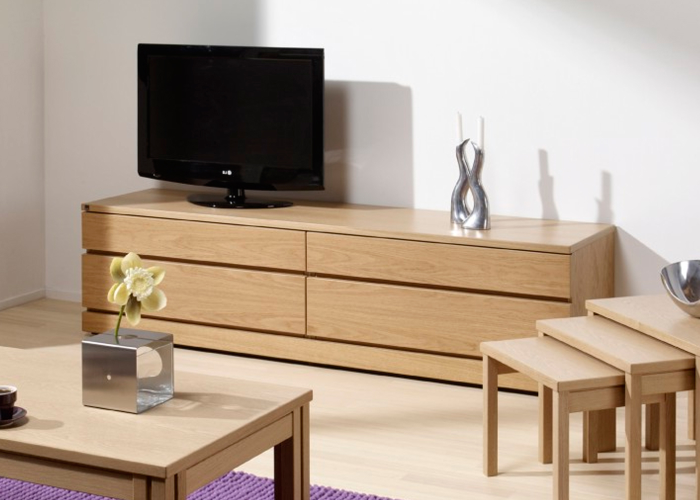 Light Oak Tv Cabinets Throughout Fashionable Skovby Sm87 Tv Cabinet In Light Oak Finish 1 – Midfurn Furniture (View 8 of 20)